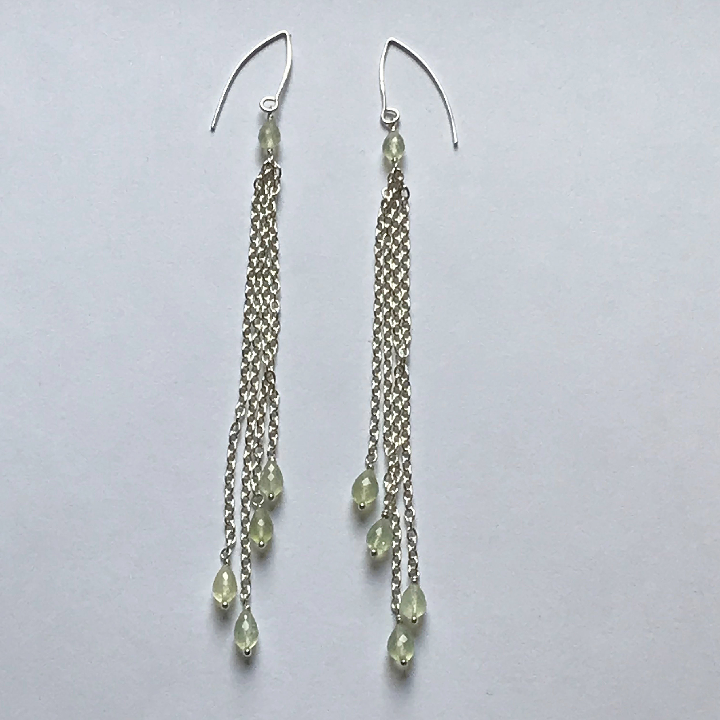 $275 Sterling Silver Peridot Dangle Earrings