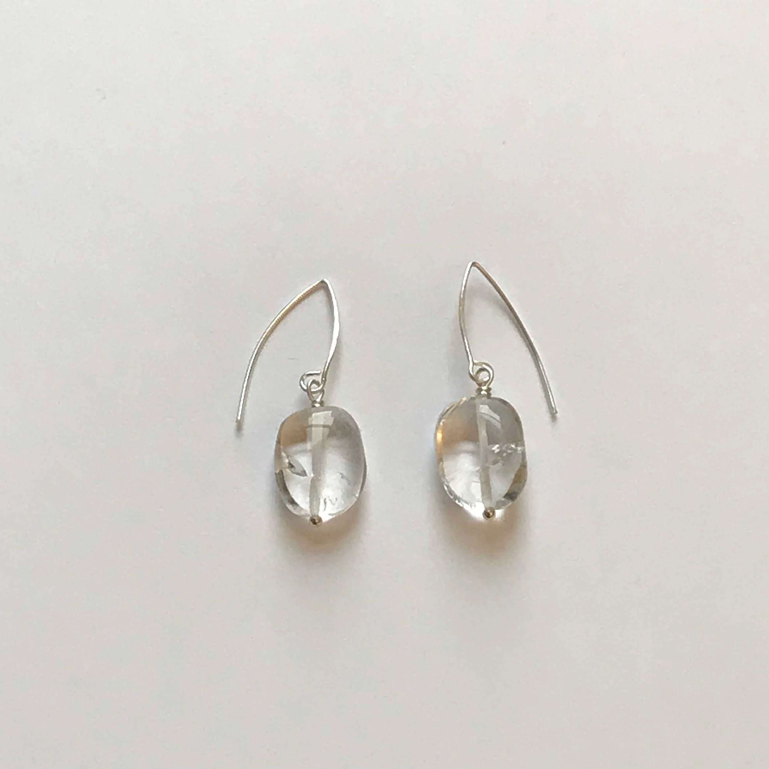 $50 Sterling Silver Rock Crystal Earrings