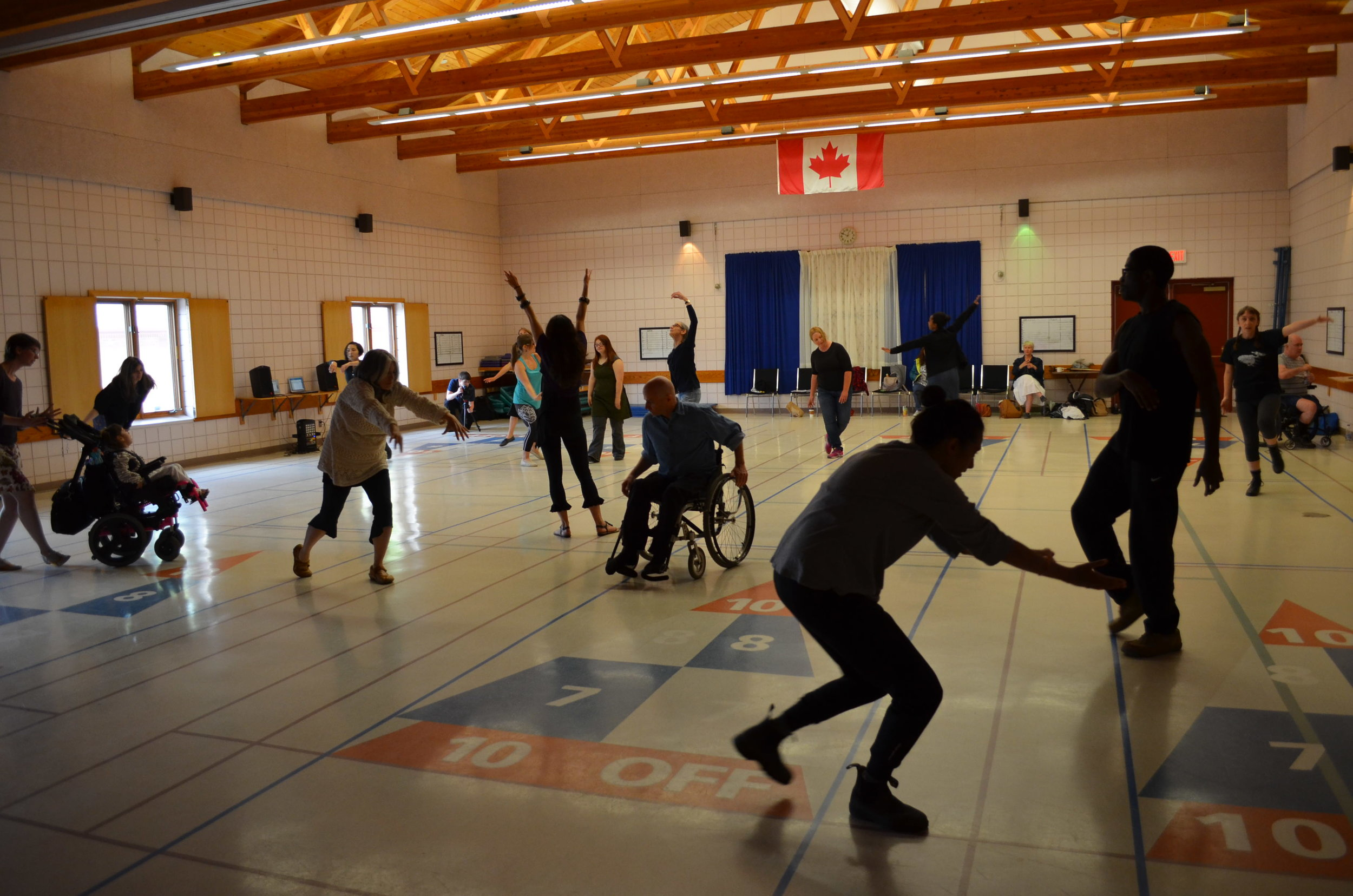 Flux - Flux is a free, no-experience-required workshop for people of all ages who would like to participate in a group movement experience. It can be tailored for dancers, non-dancers, or for mixed-abilities groups.