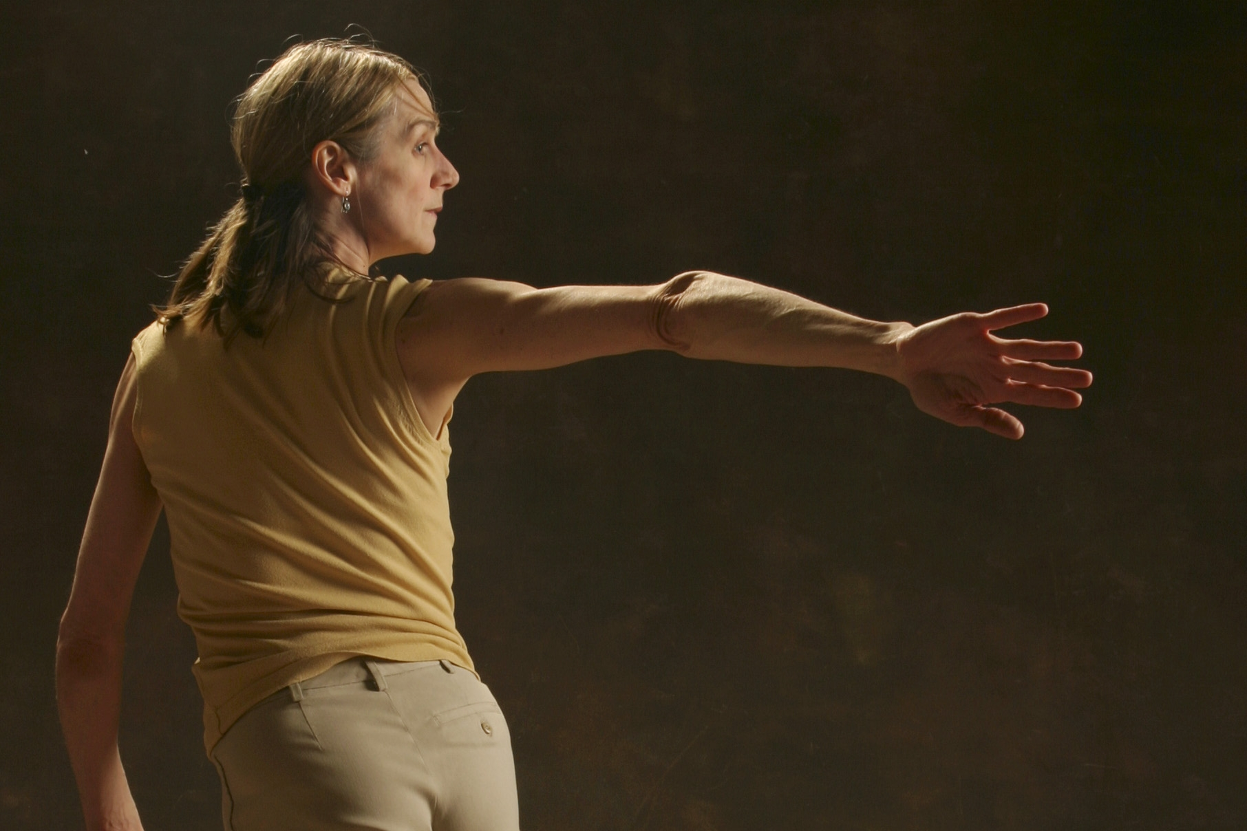The Disappearance of Right and Left - Created with Sarah Chase in 2004, The Disappearance of Right and Left is a seamless combination of modern dance and storytelling. Peggy recounts 12 interweaving family stories, using direct address, poetry and movement.