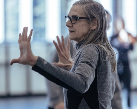 photo: jeremy mimnagh, january 2018. peggy directing who we are in the dark, which will be taught in her repertoire workshops at the august intensive