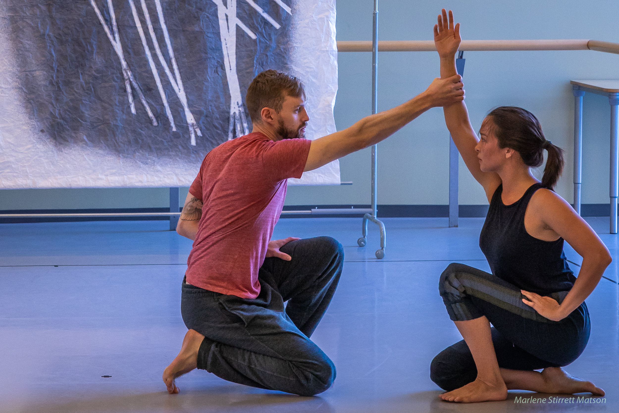 Jarrett and Sierra rehearsing at Canada's national ballet school