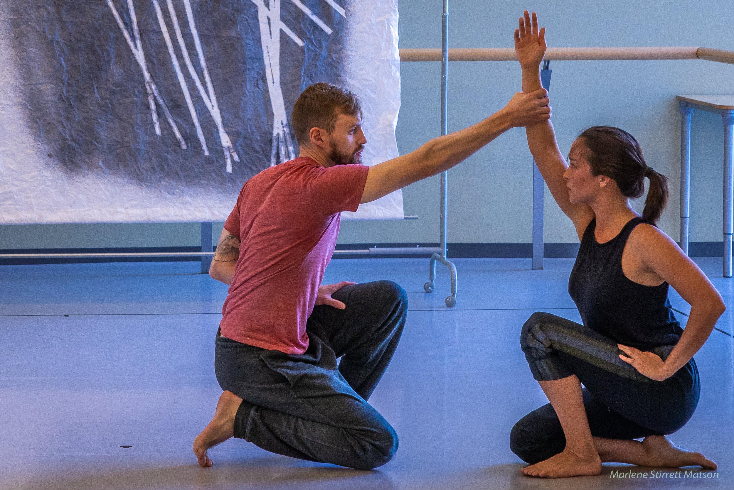Jarrett and Sierra rehearsing at Canada's national ballet school