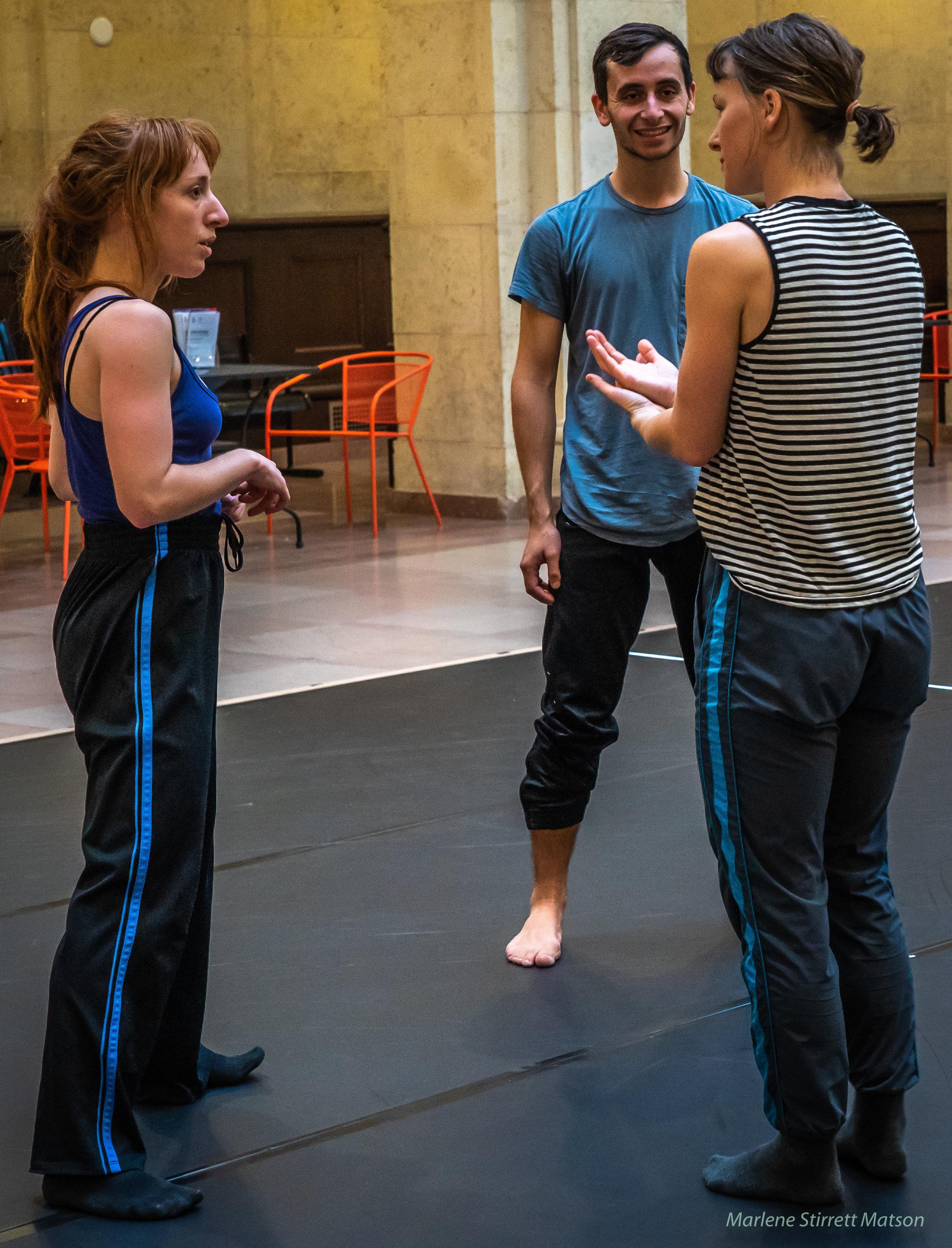 Sarah Fregeau working with Jessica and Micha