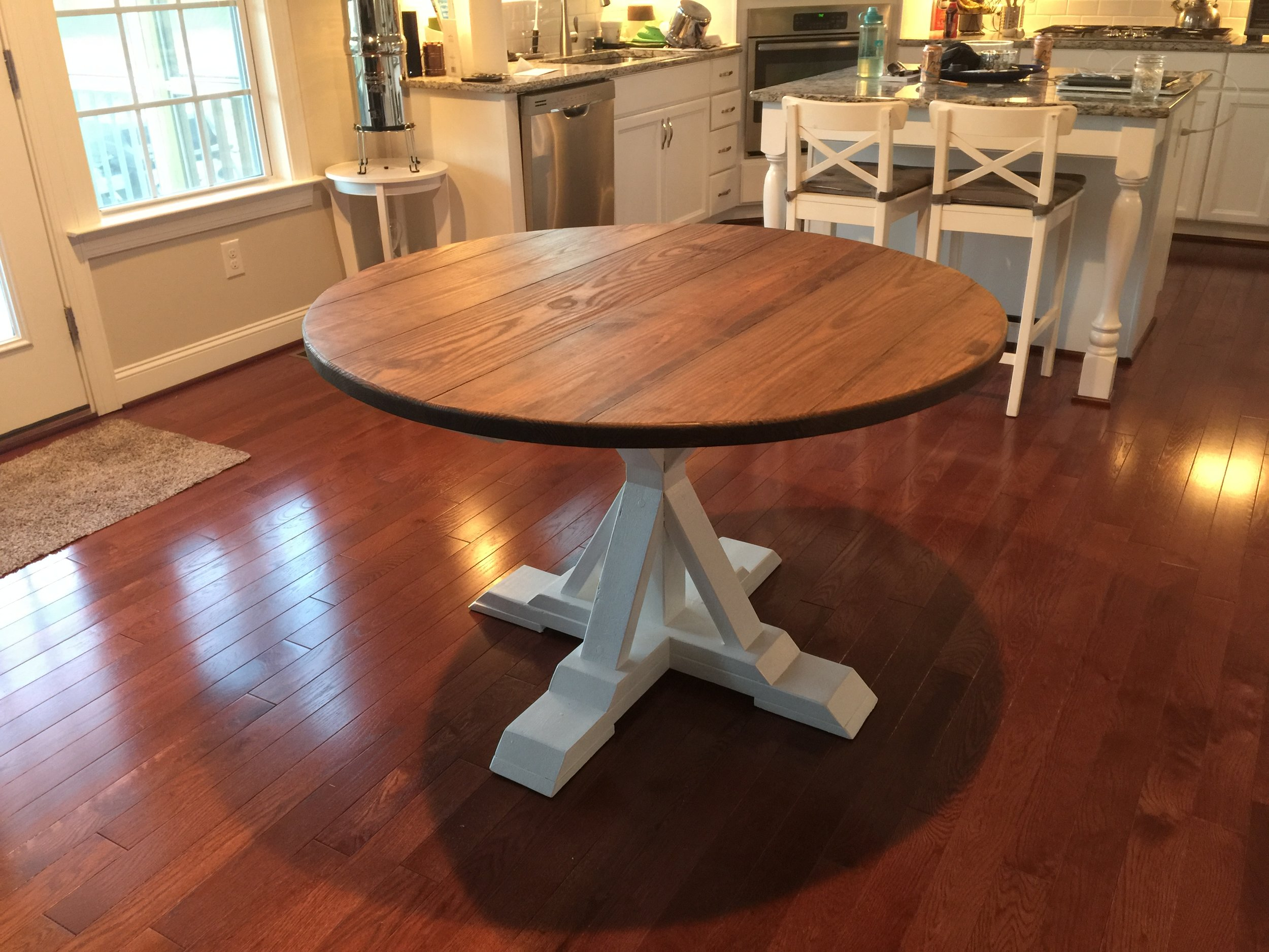 Various levels of distressing are based on customer's choice and included in the price of the tables.