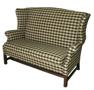 Wing back love seat