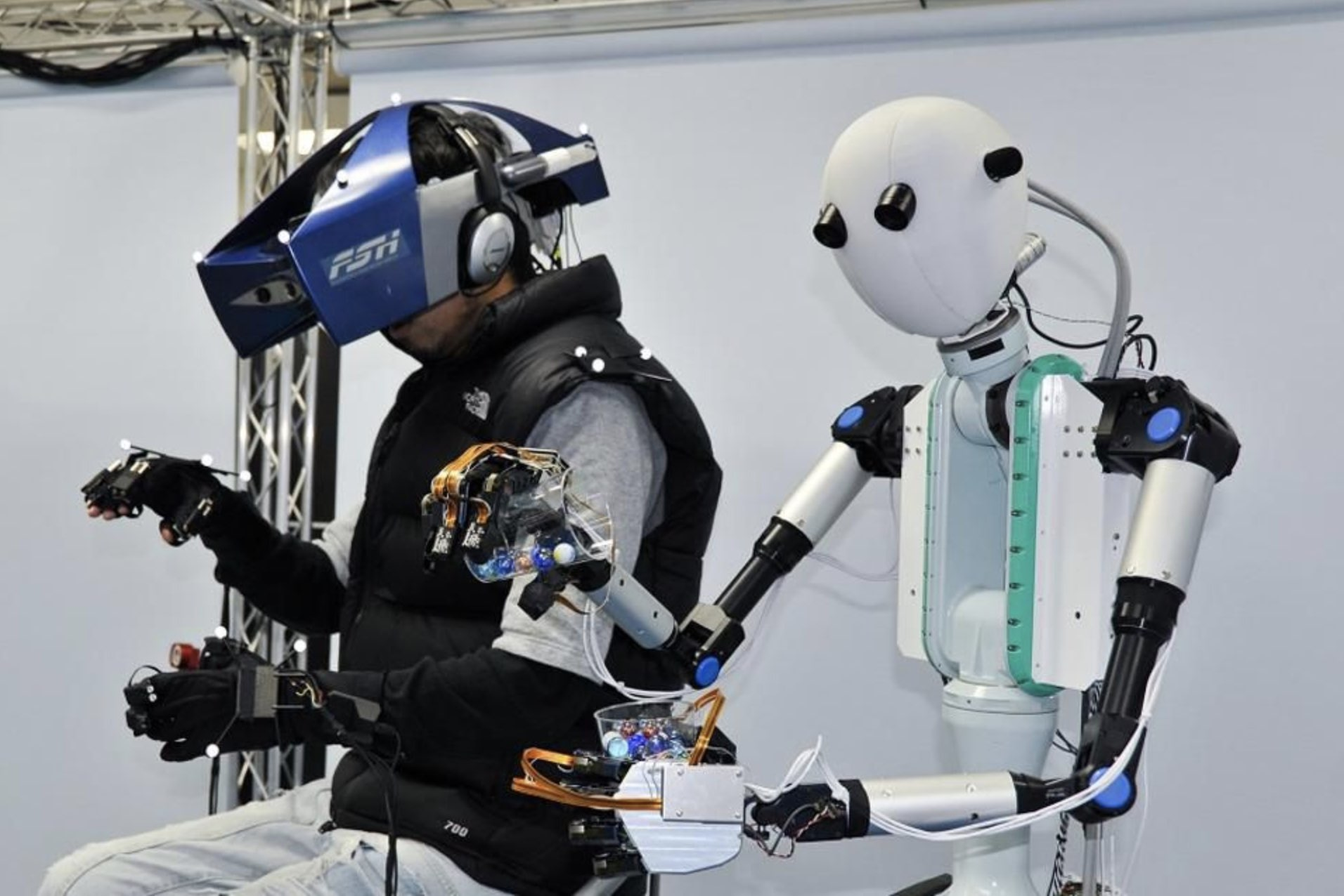 Telexistence: Control a long distance Robot Avatar using VR gear