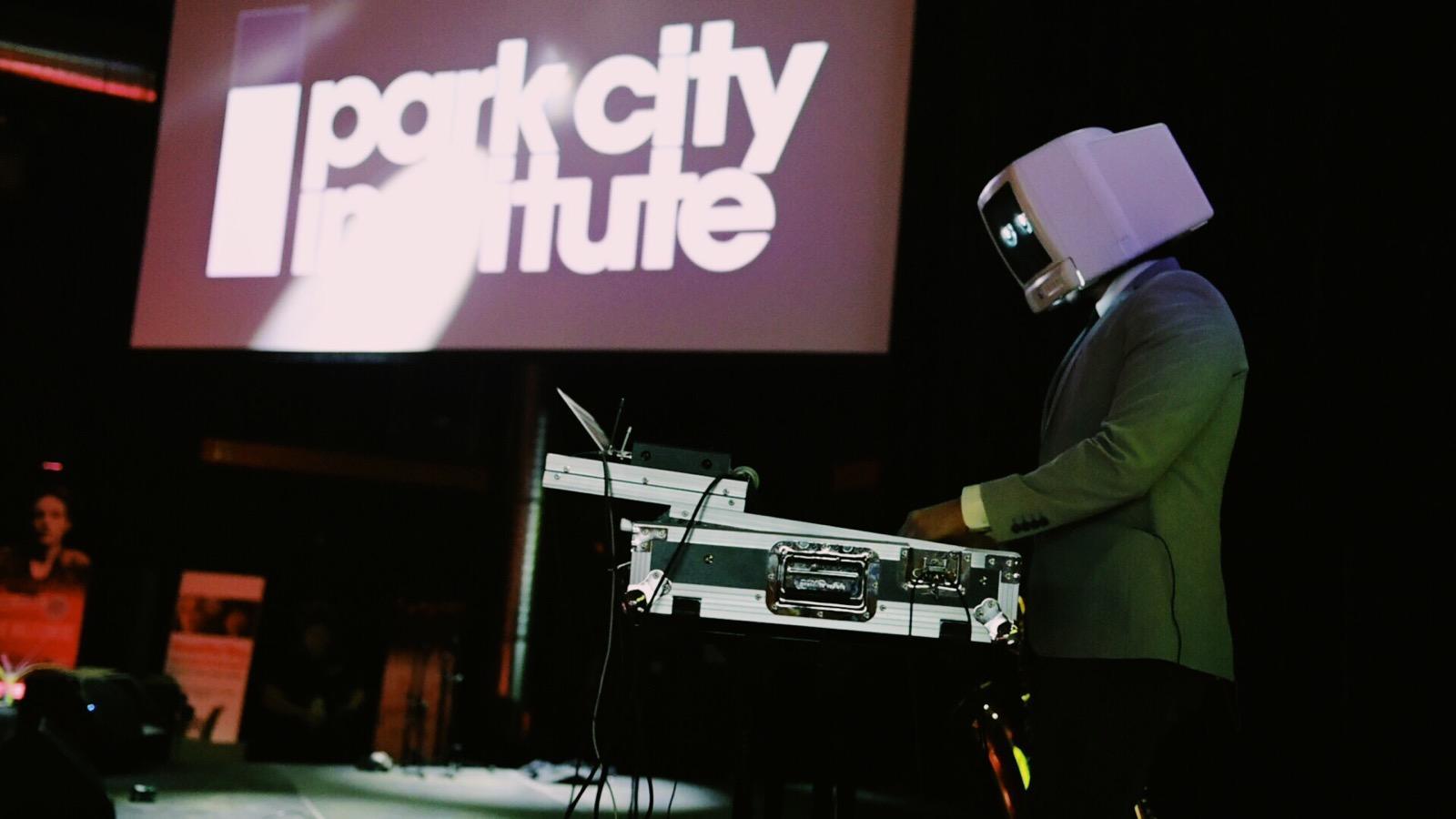 DJ Robot Dream DJing during the Sundance Film Festival 2019 in Park City