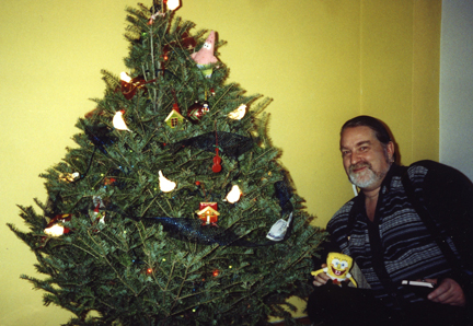 Johnny and Sponge Bob having a Merry Christmas!