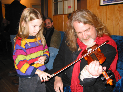 """McKensey Chapman,   10 years old: """" I enjoyed his music & his outgoing personality. I was very saddened by his death. I am honored to have his autograph on my violin. """""""
