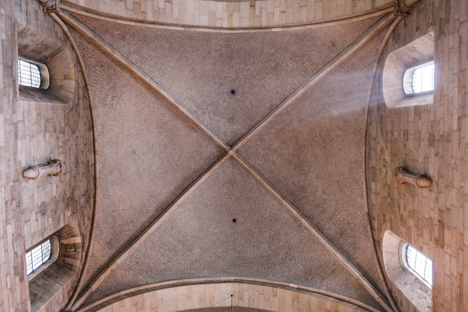The ceiling of the Lund Domkyrka in Lund, Sweden.