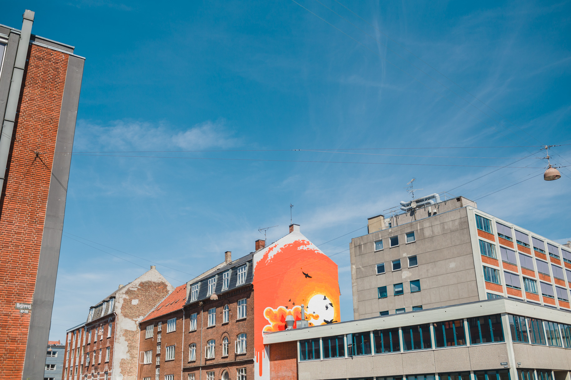 A mural in the Nørrebro neighborhood, Copenhagen, Denmark.