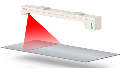 Flatness Gauge: Laser measuring systems to control bending and waves of the edges of metal strips and sheets.Detects surface deformations and measures plates/sheets flatness on the production line.