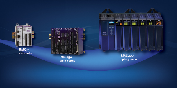 Delta Computer Systems: Introducing Delta's most capable electro-hydraulic motion controller. The  RMC200 controls up to 32 axes , and our familiar RMCTools software makes it easy to synchronize every one of them — from simple single-loop position control to complex dual-loop control of position-pressure/force.