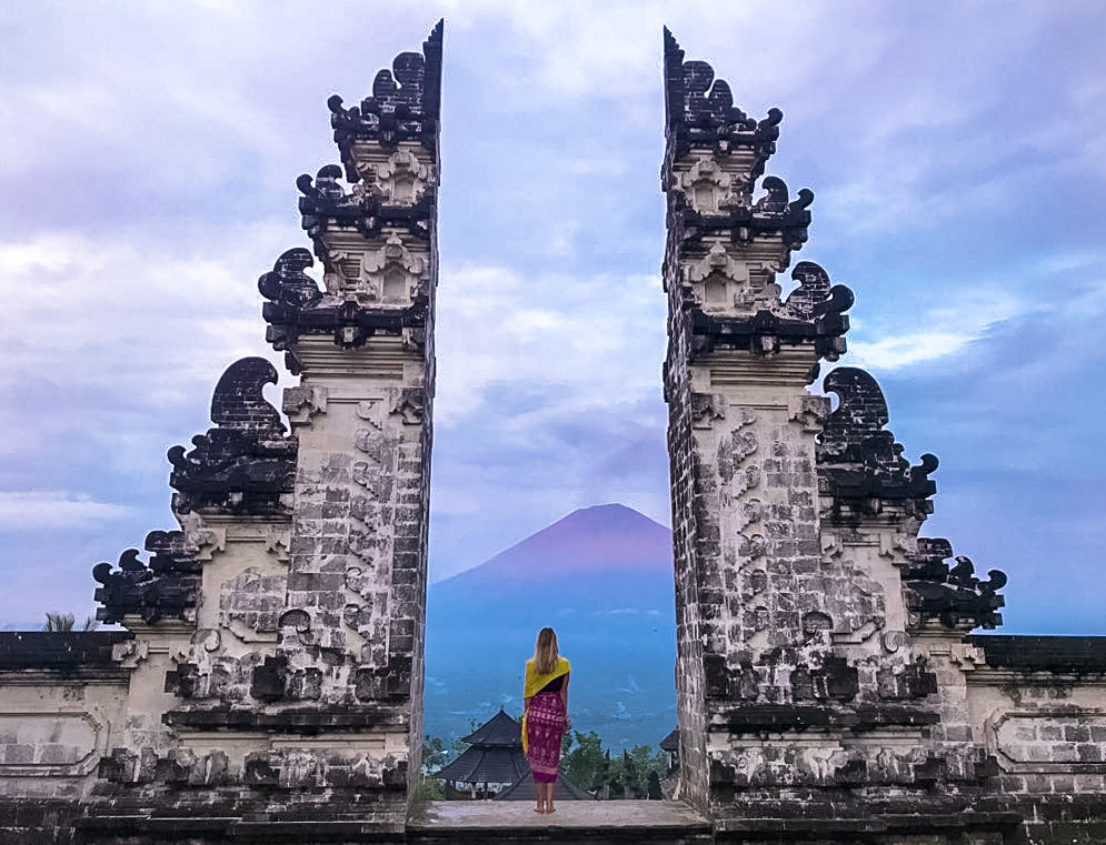 Gates of Heaven at Sunrise, overlooking Mount Agung