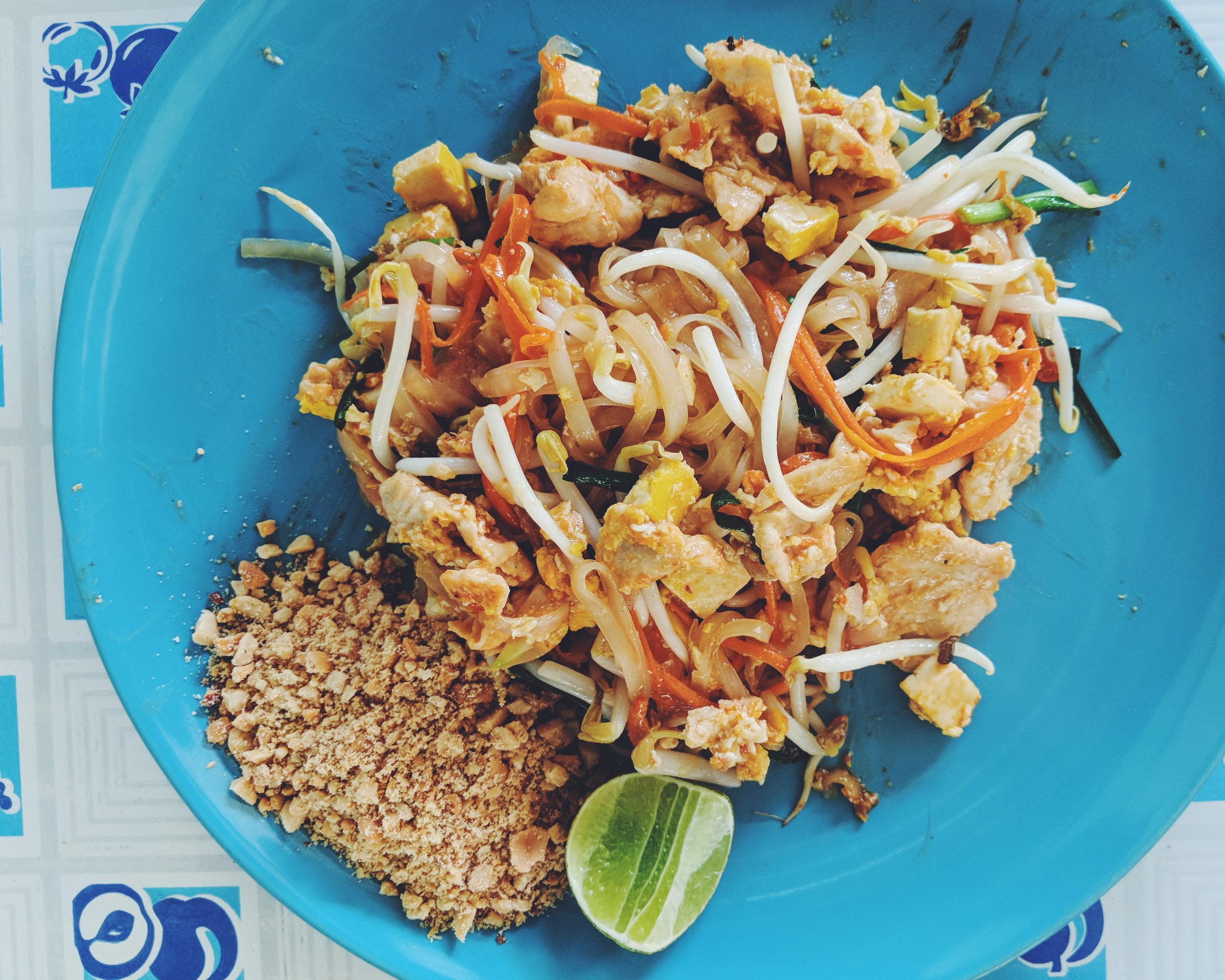 Pad Thai Recipe at MAMA NOI Thai Cookery School