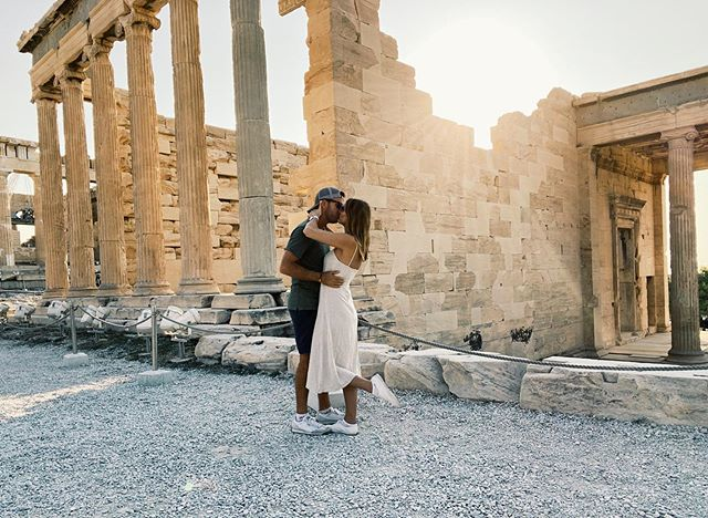 We're having a hard time describing just how incredible Acropolis actually is... Four more cities to go before coming home! ➡️ Santorini. . . . #greece #athens #acropolis #greeklife #travelcouple #exploreeurope