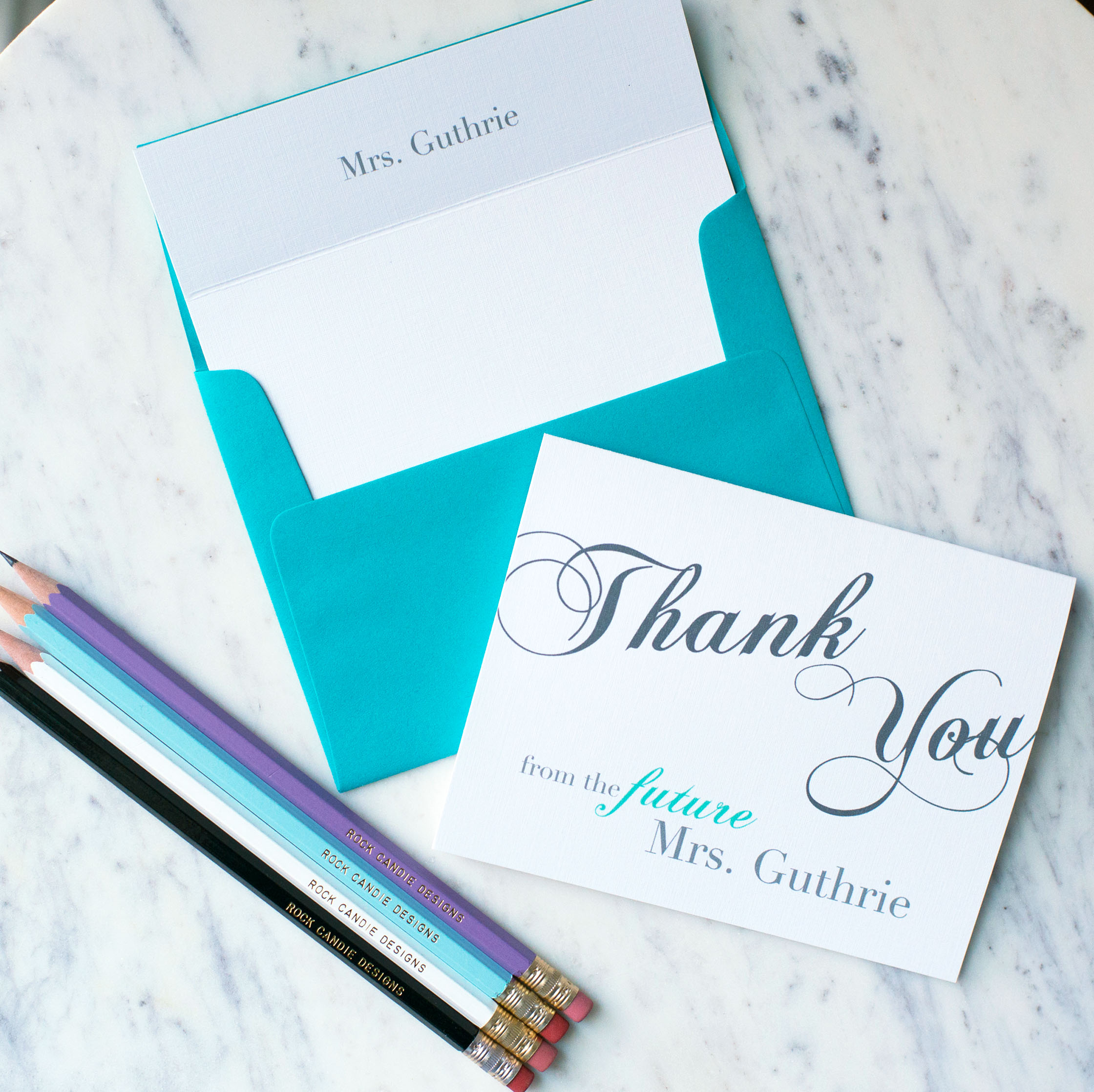 Customized From the Future Mrs. Stationery Set