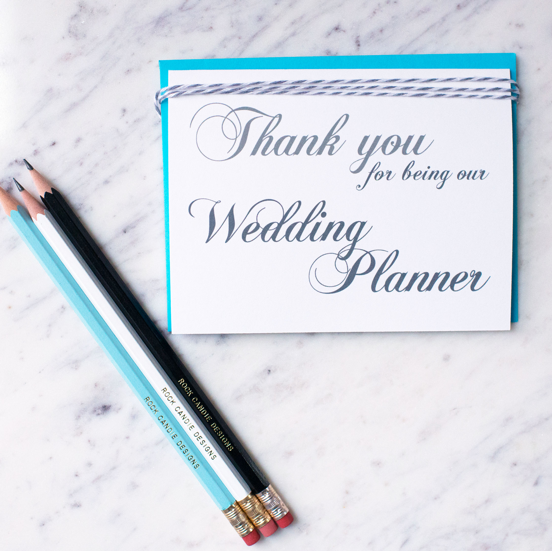 Thank You For Being Our Wedding Planner Card
