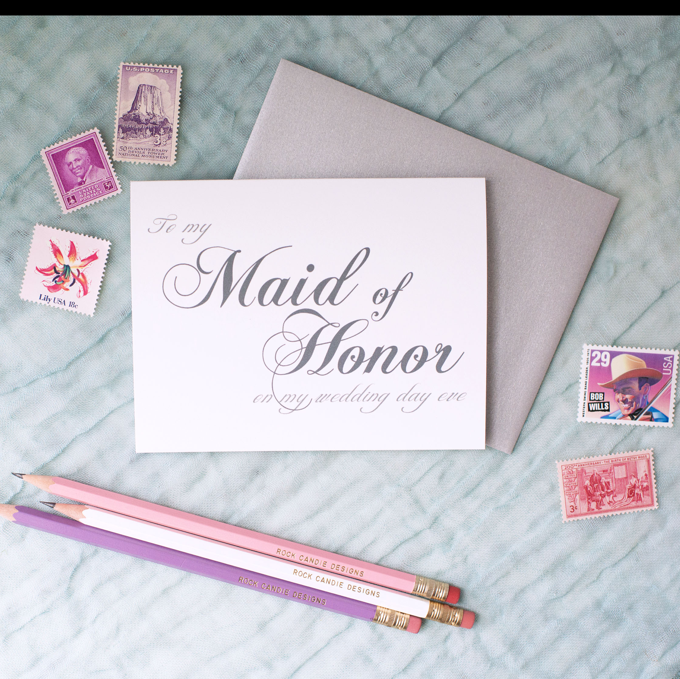 To My Maid of Honor On My Wedding Day Eve Card