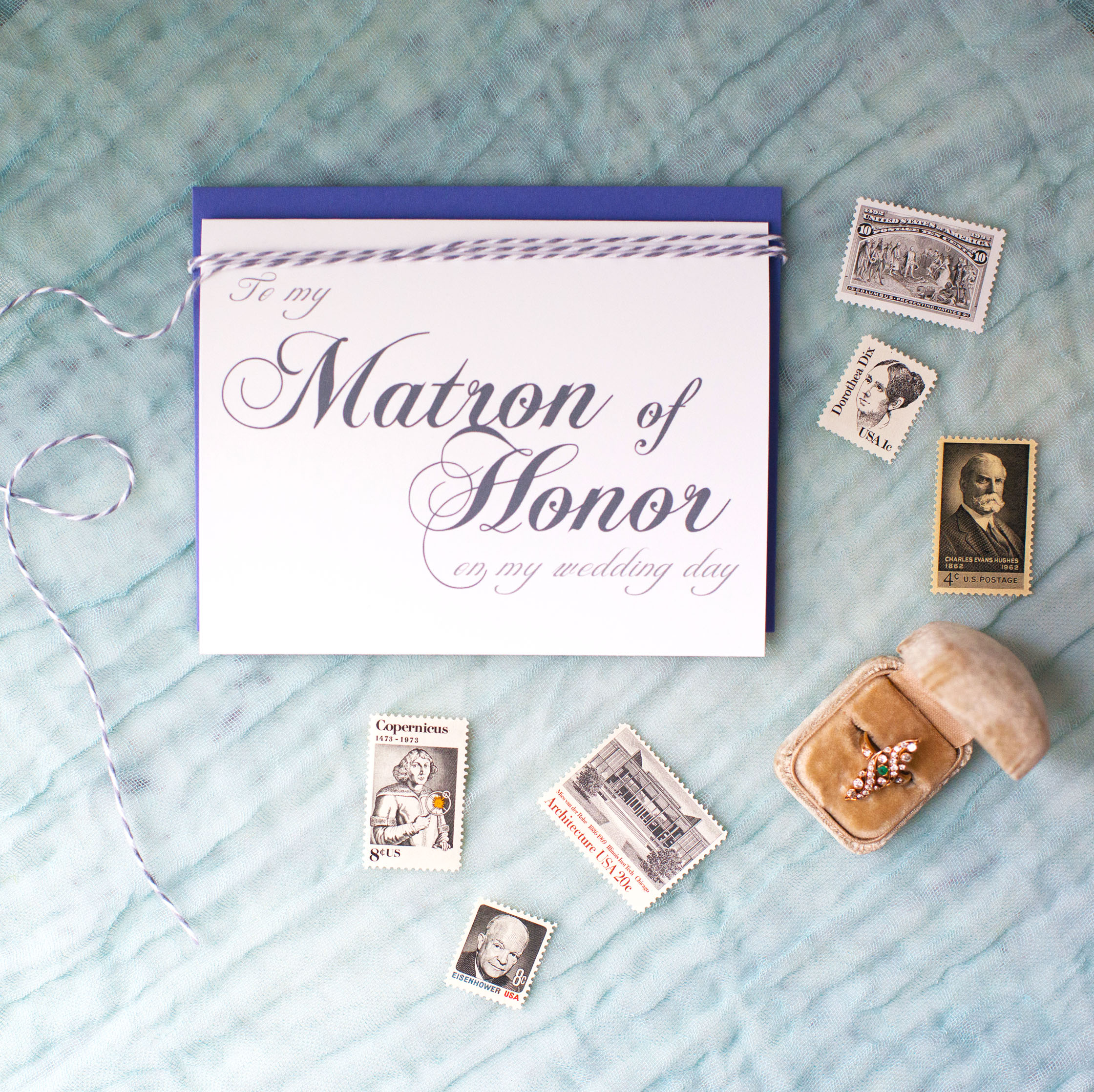 To My Matron of Honor On My Wedding Day Card