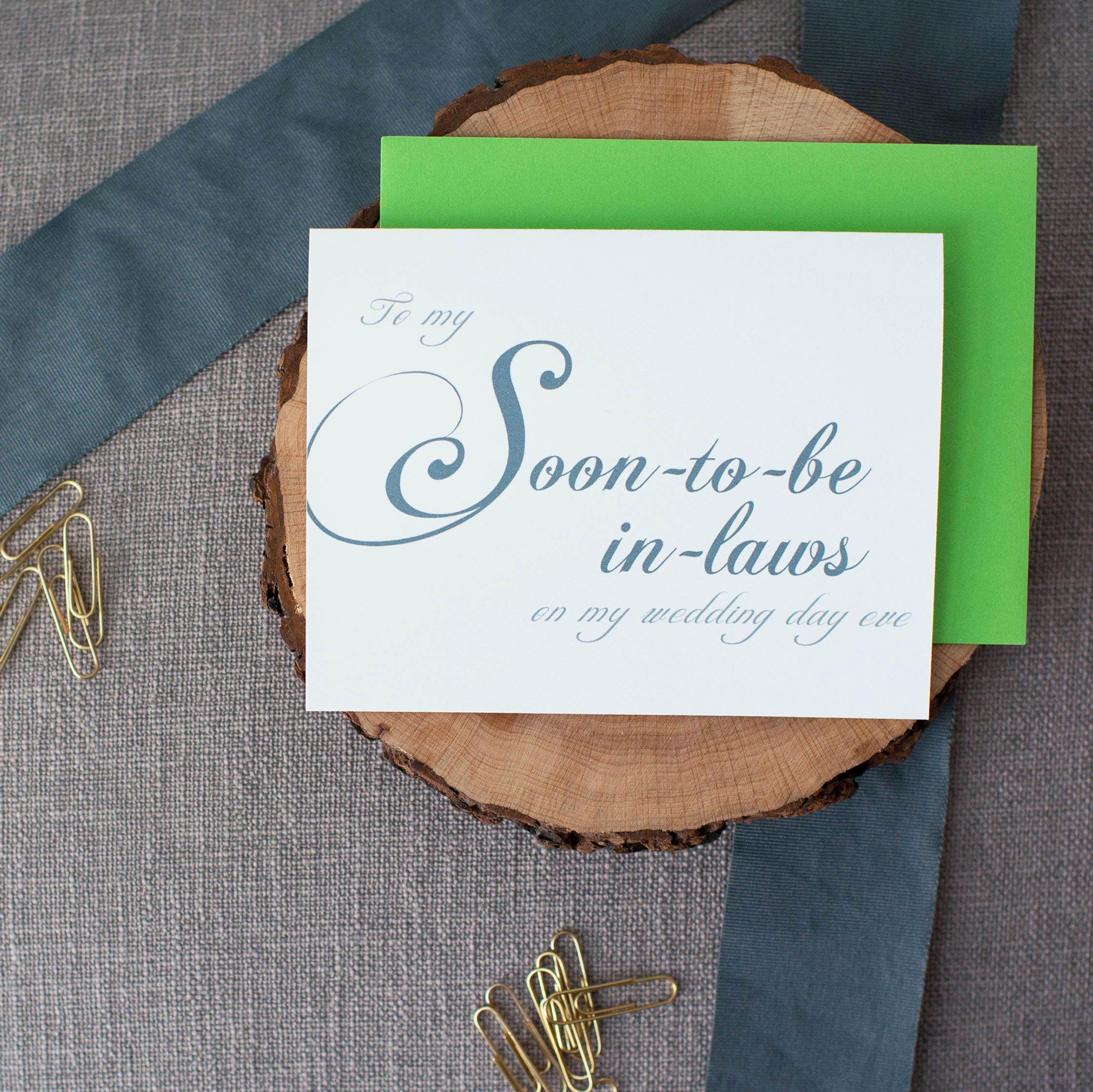 To My Soon-to-Be In-Laws On My Wedding Day Eve Card
