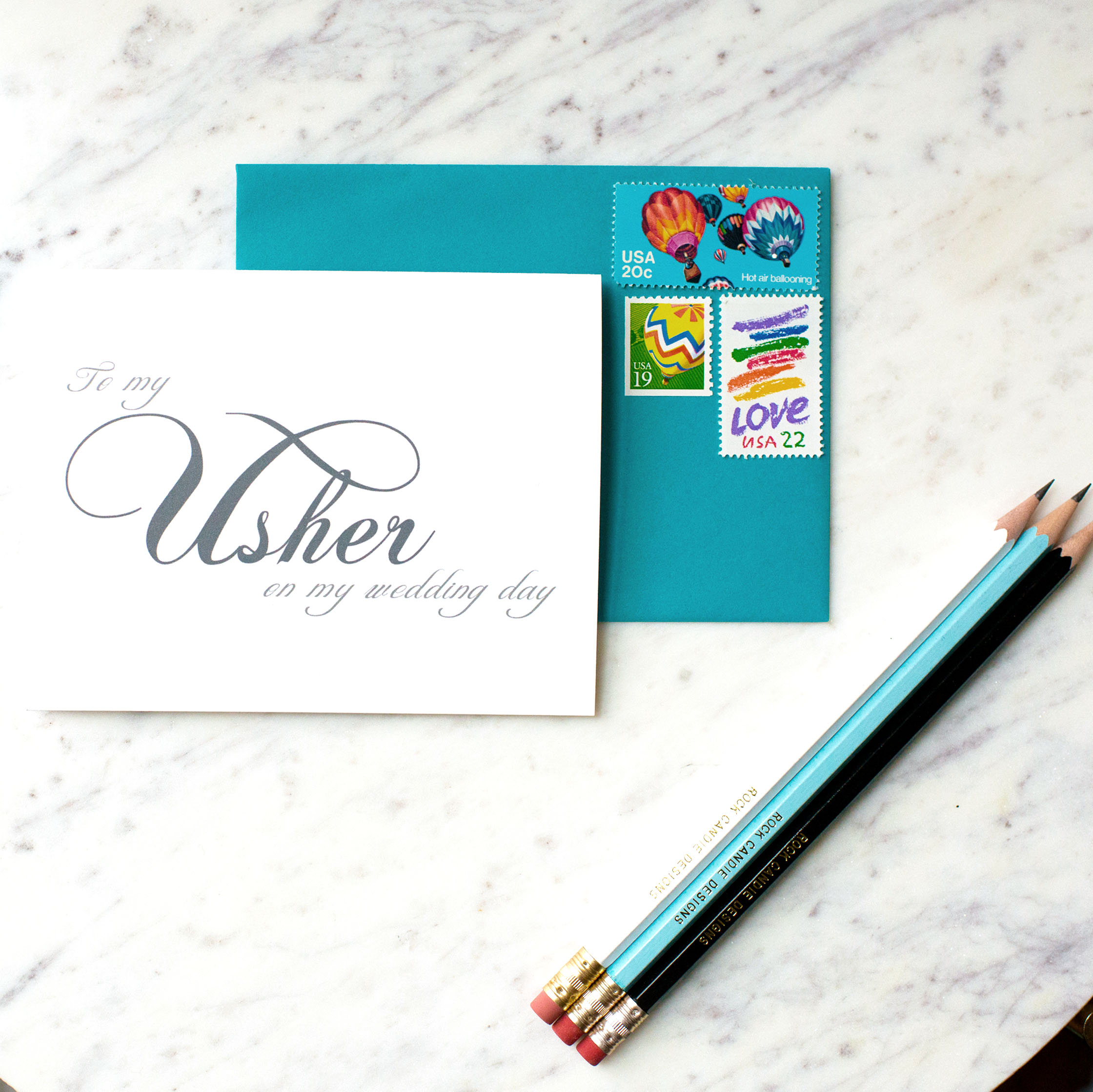 To My Usher On My Wedding Day Card