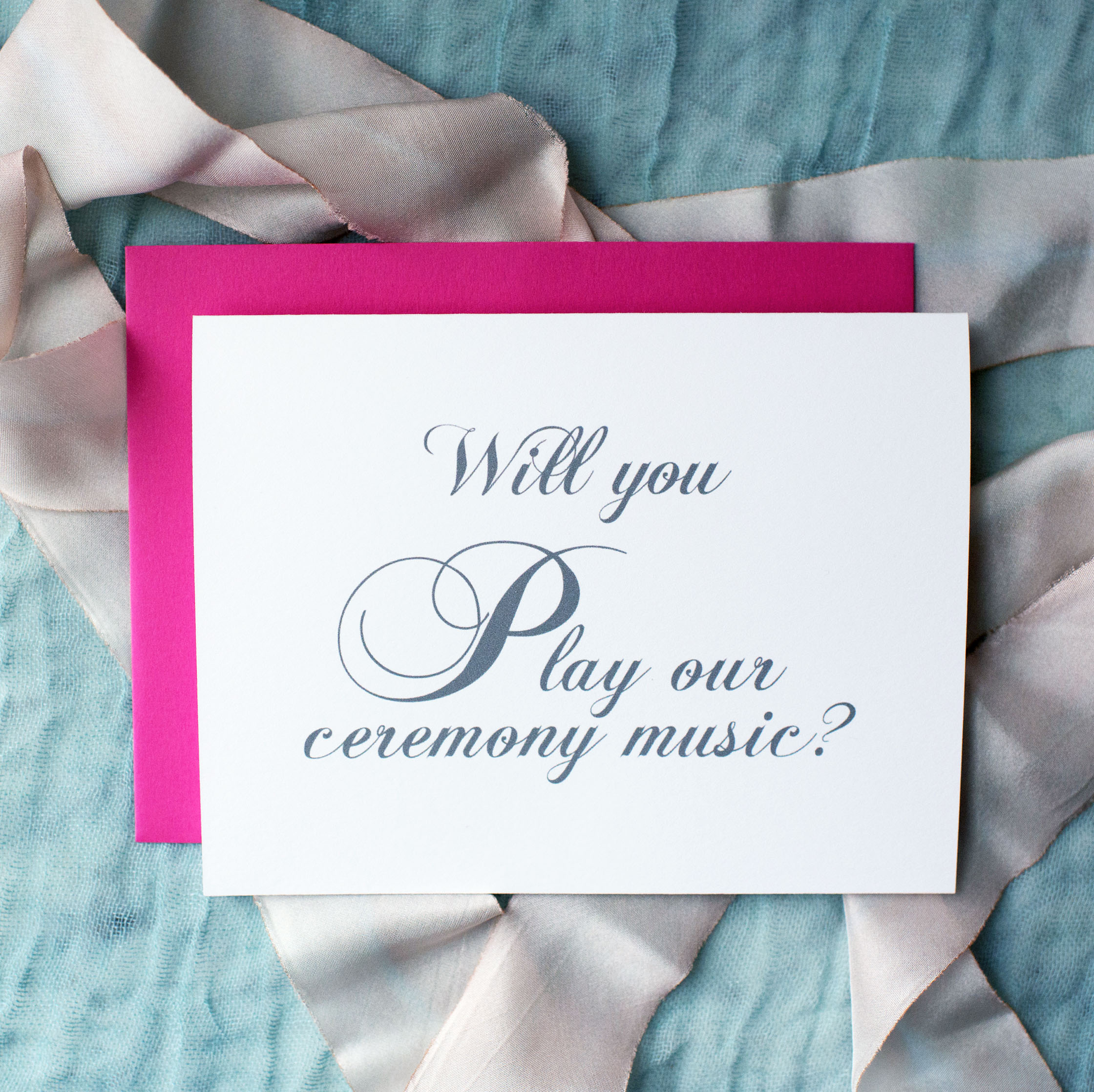 Will You Play Our Ceremony Music Card