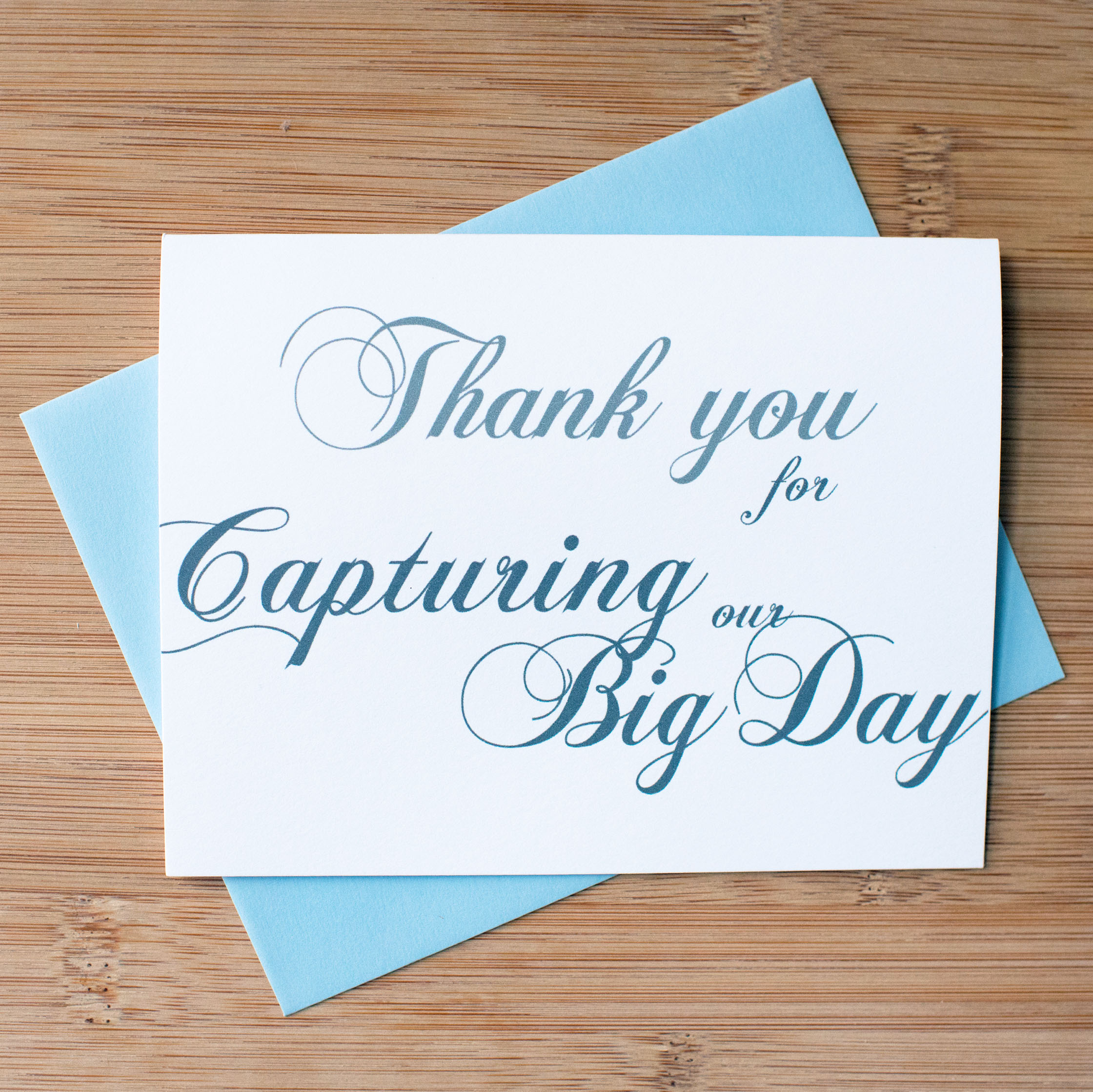 Thank You For Capturing Our Big Day Card
