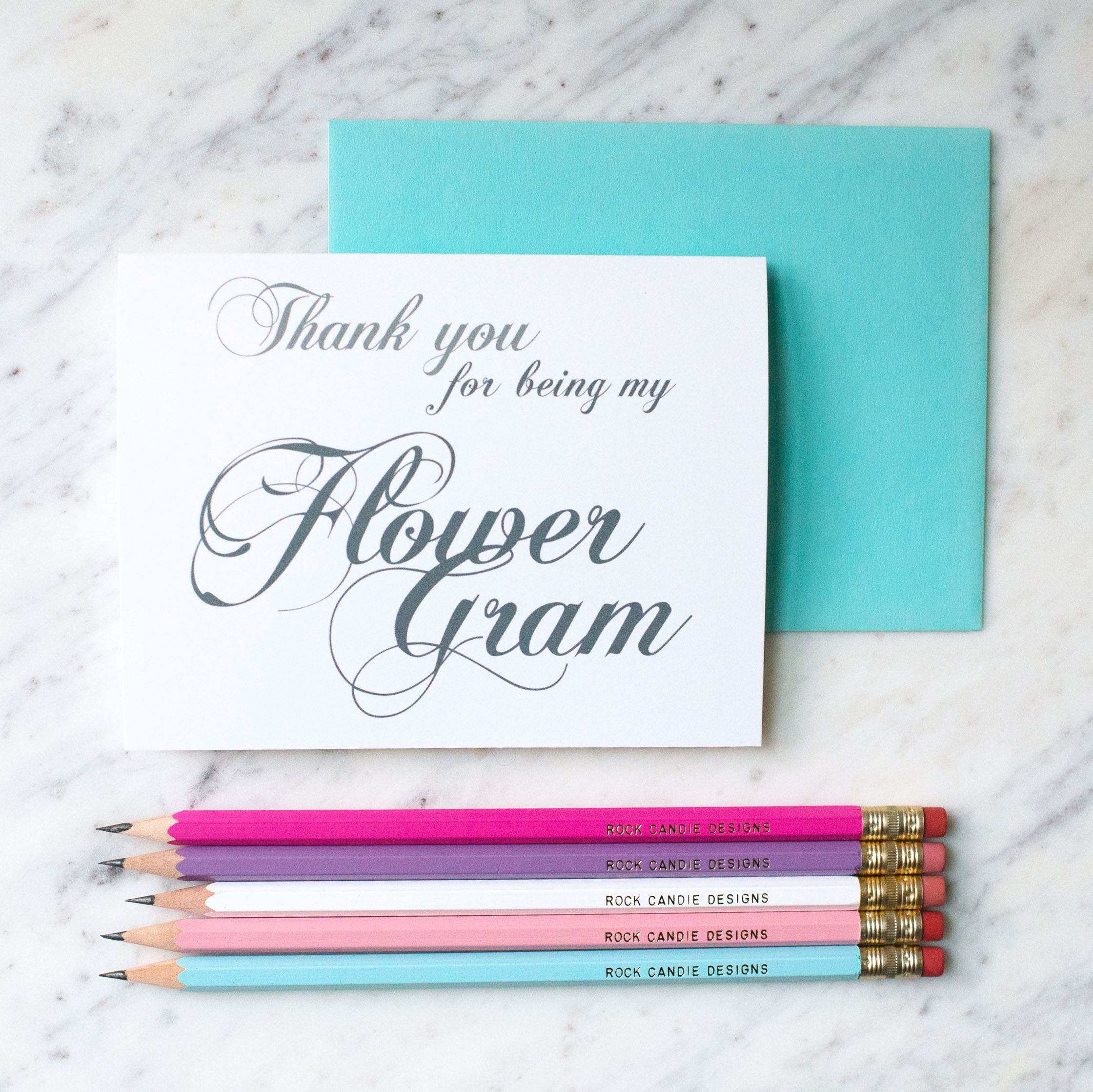 Thank You For Being My Flower Gram Card