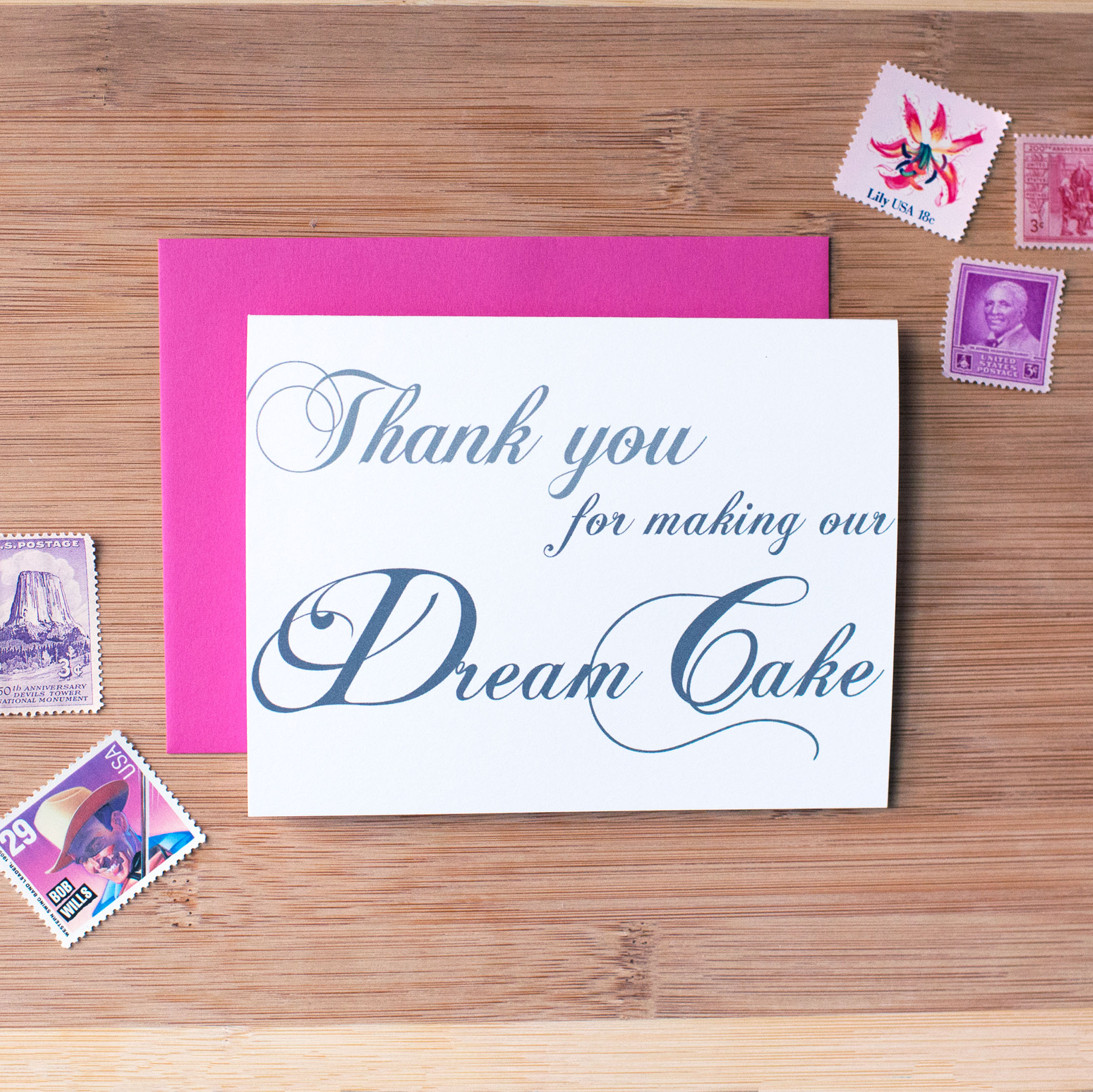 Thank You For Making Our Dream Cake Card