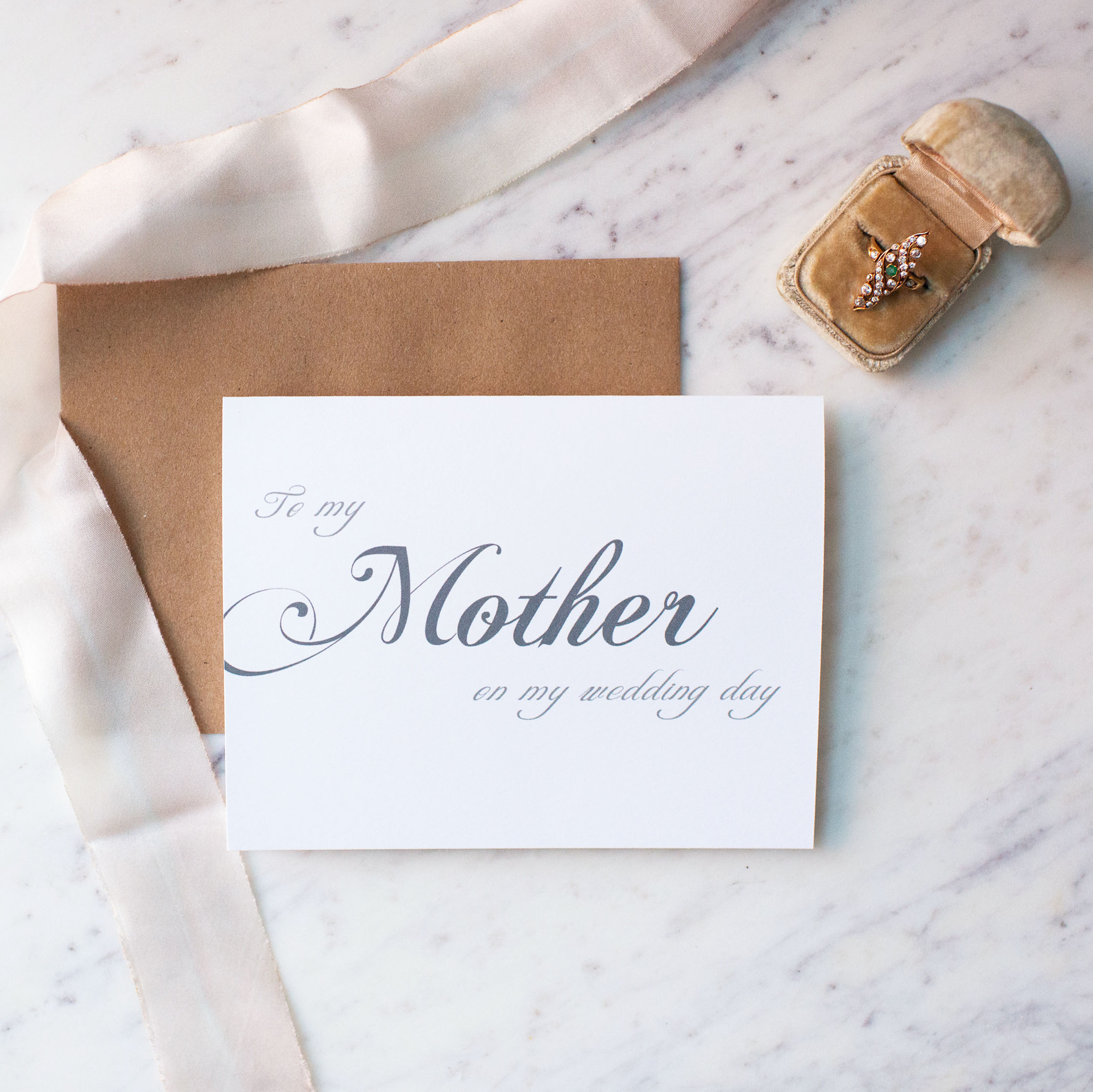 To My Mother On My Wedding Day Card