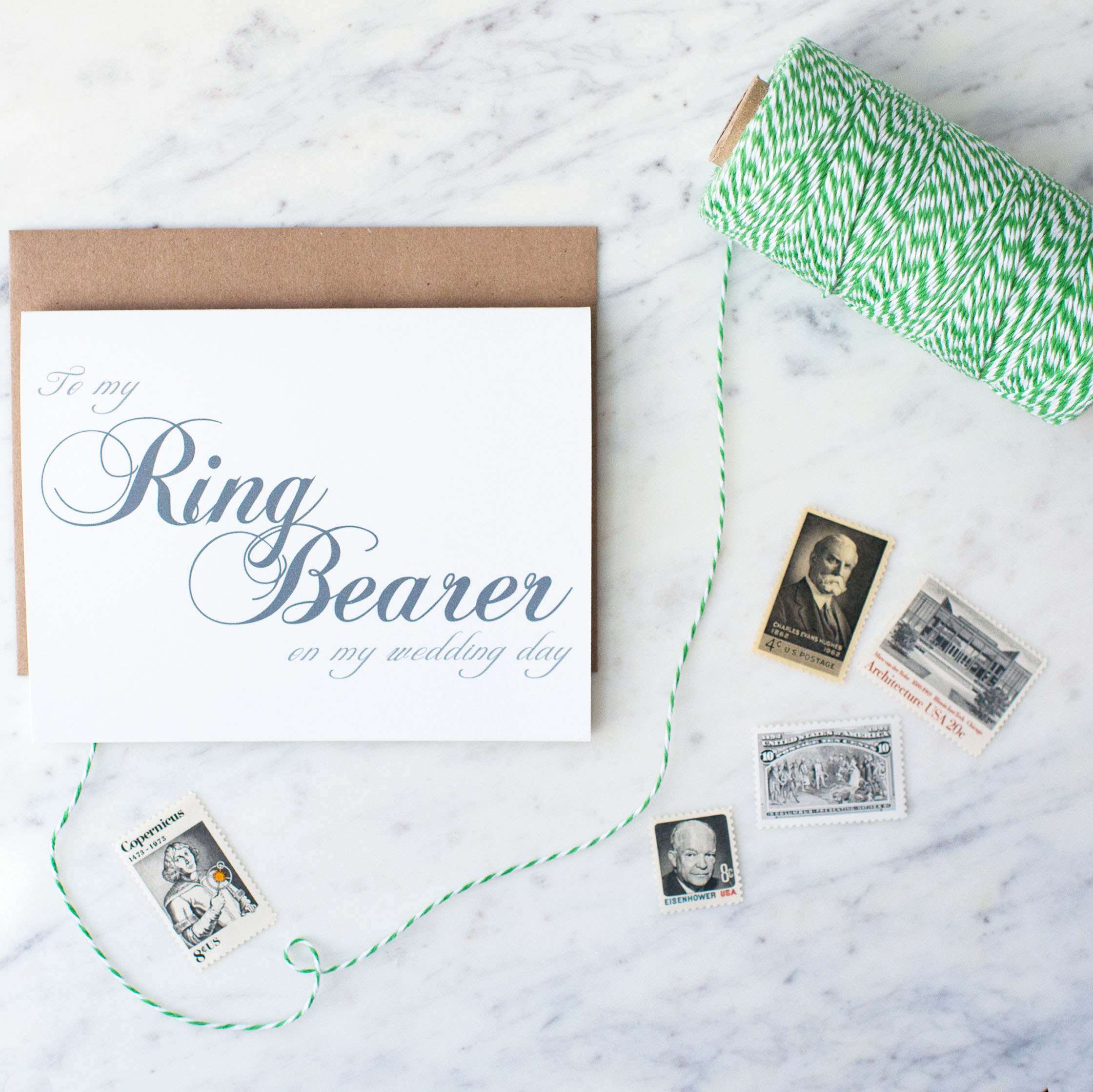 To My Ring Bearer On My Wedding Day Card