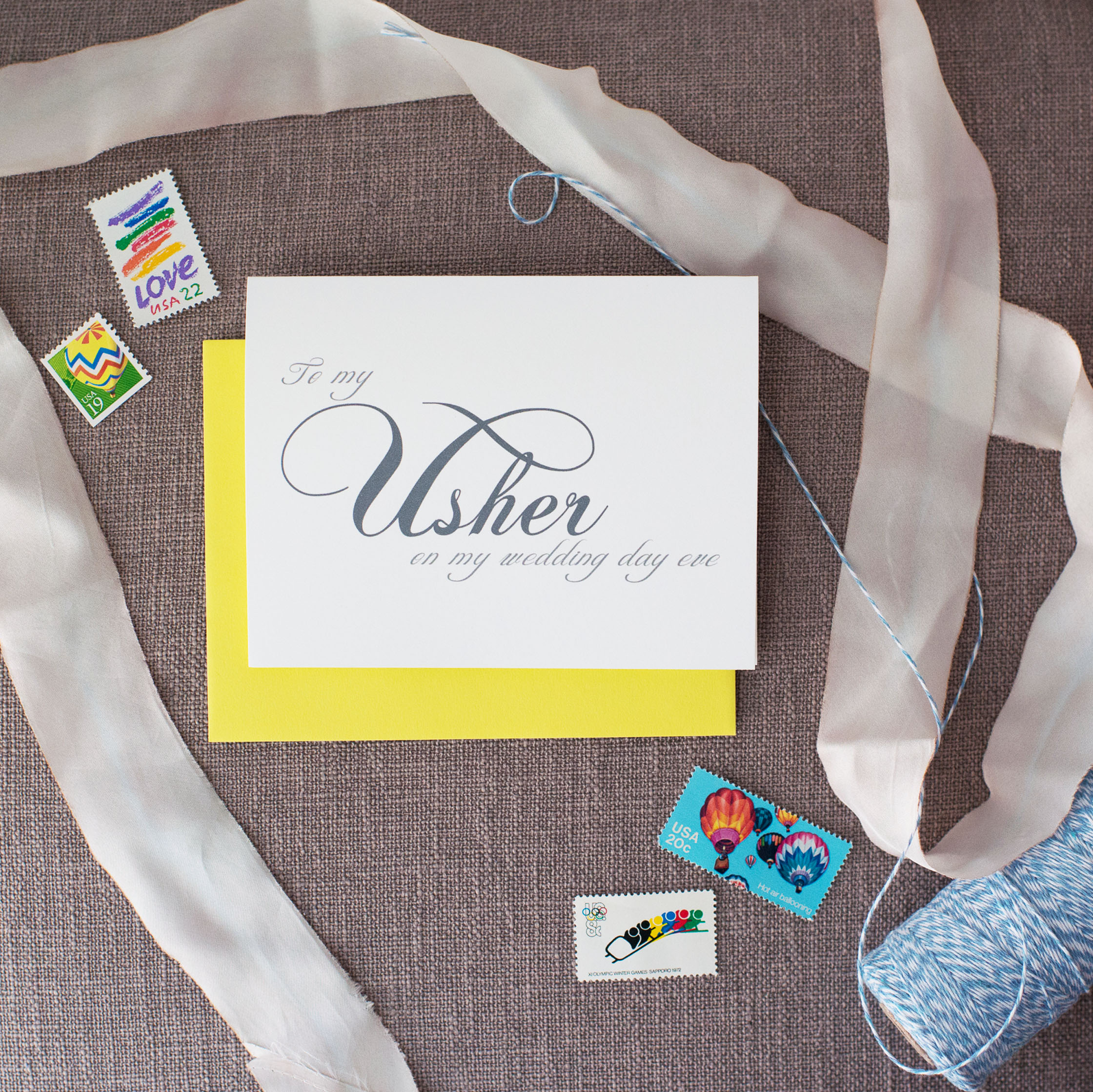 To My Usher On My Wedding Day Eve Card