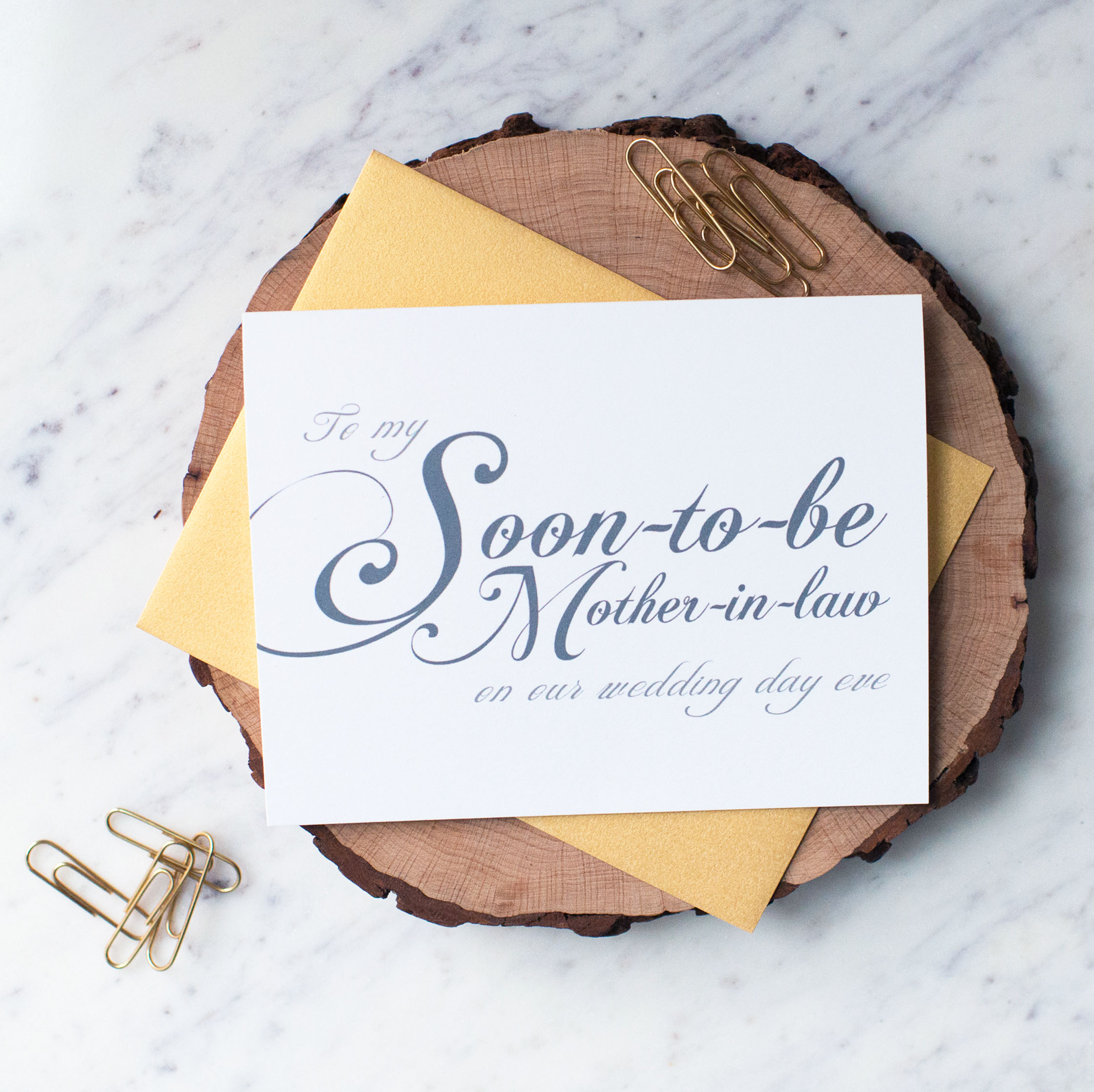 To My Soon-to-Be Mother-in-Law On Our Wedding Day Eve Card