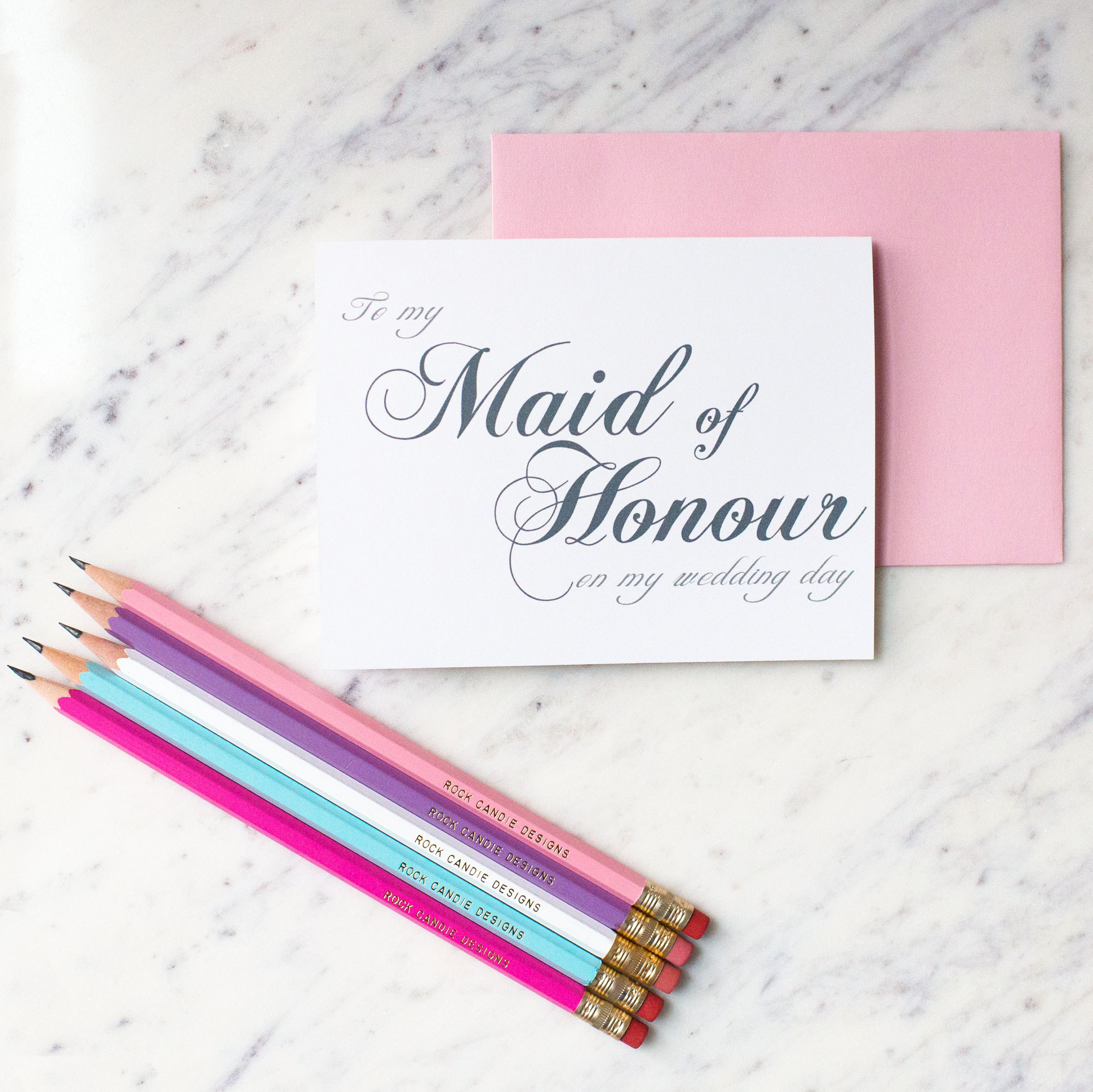 To My Maid of Honour On My Wedding Day Card