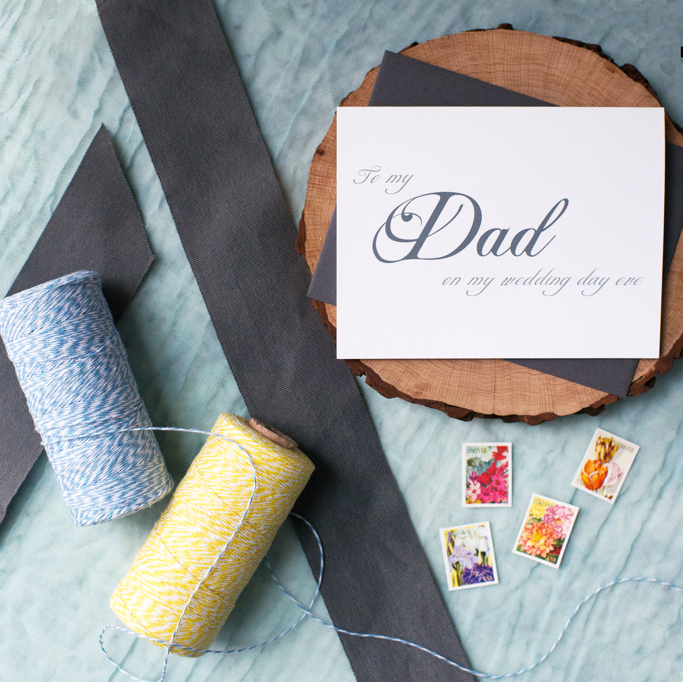 To My Dad On My Wedding Day Eve Card