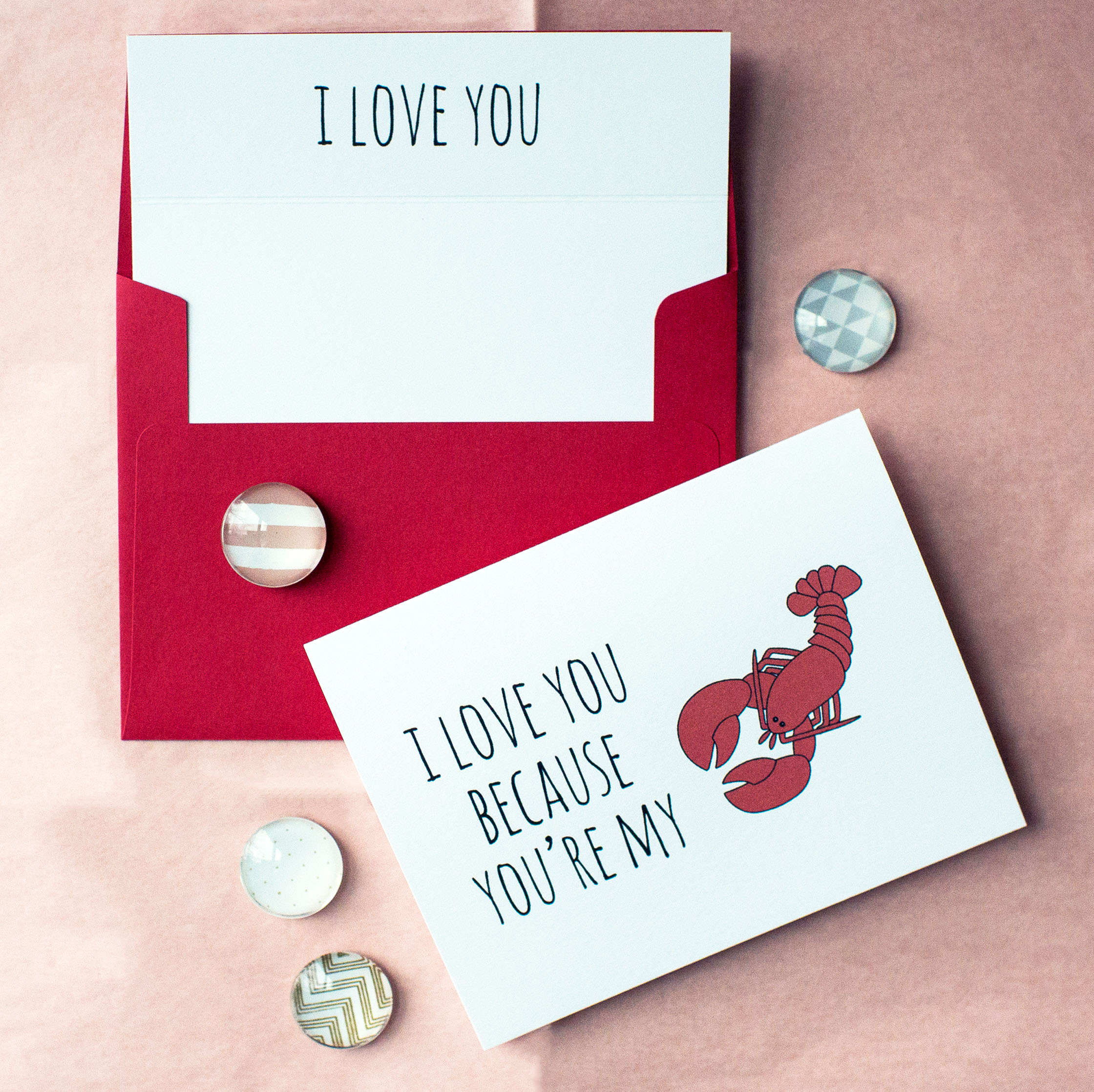 I Love You Because You're My Lobster Card