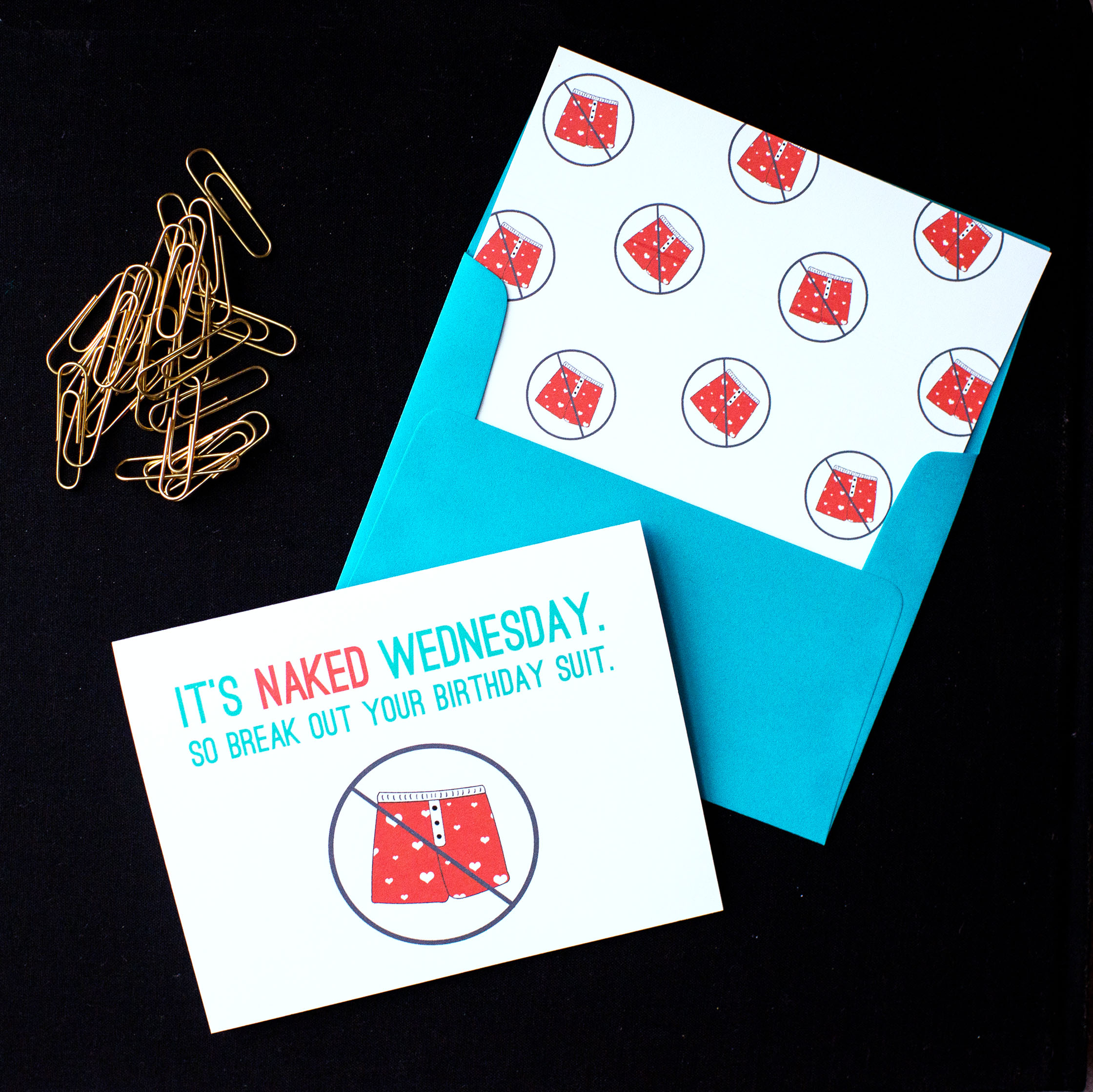 It's Naked Wednesday Card