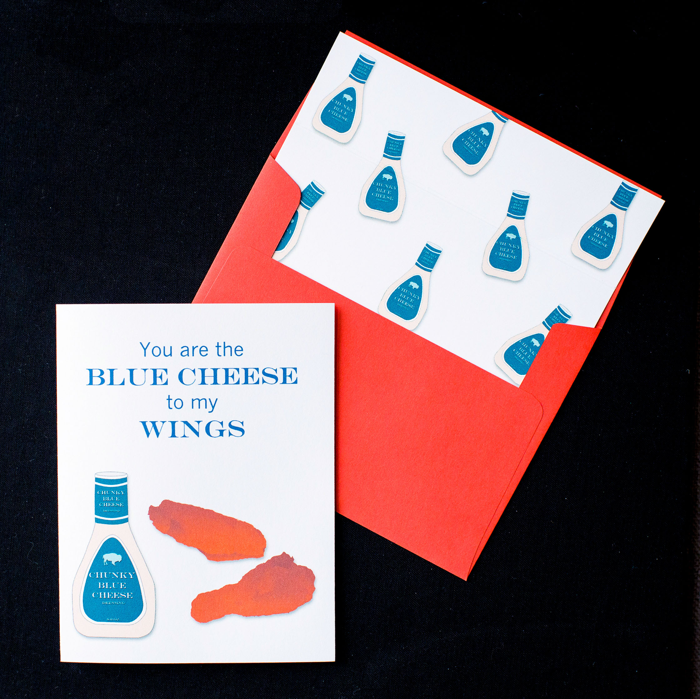 You Are The Blue Cheese To My Wings Card