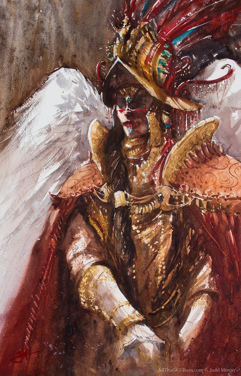 Sebrahi of the Host - Watercolor - 11x17