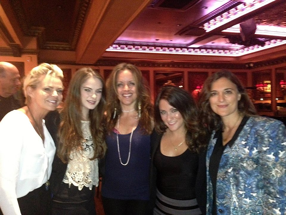 Backstage at 54 Below with Debbie Ghavami, Alice Ripley, Jessica Means, Lauren Schwartz