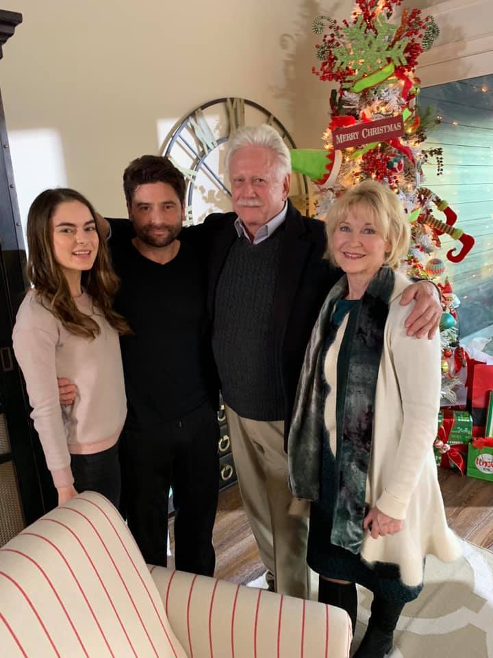 On the set of The Gift of Christmas with Nathan Todaro, Academy Award Nominee Bruce Davison and Dee Wallace (E.T.)