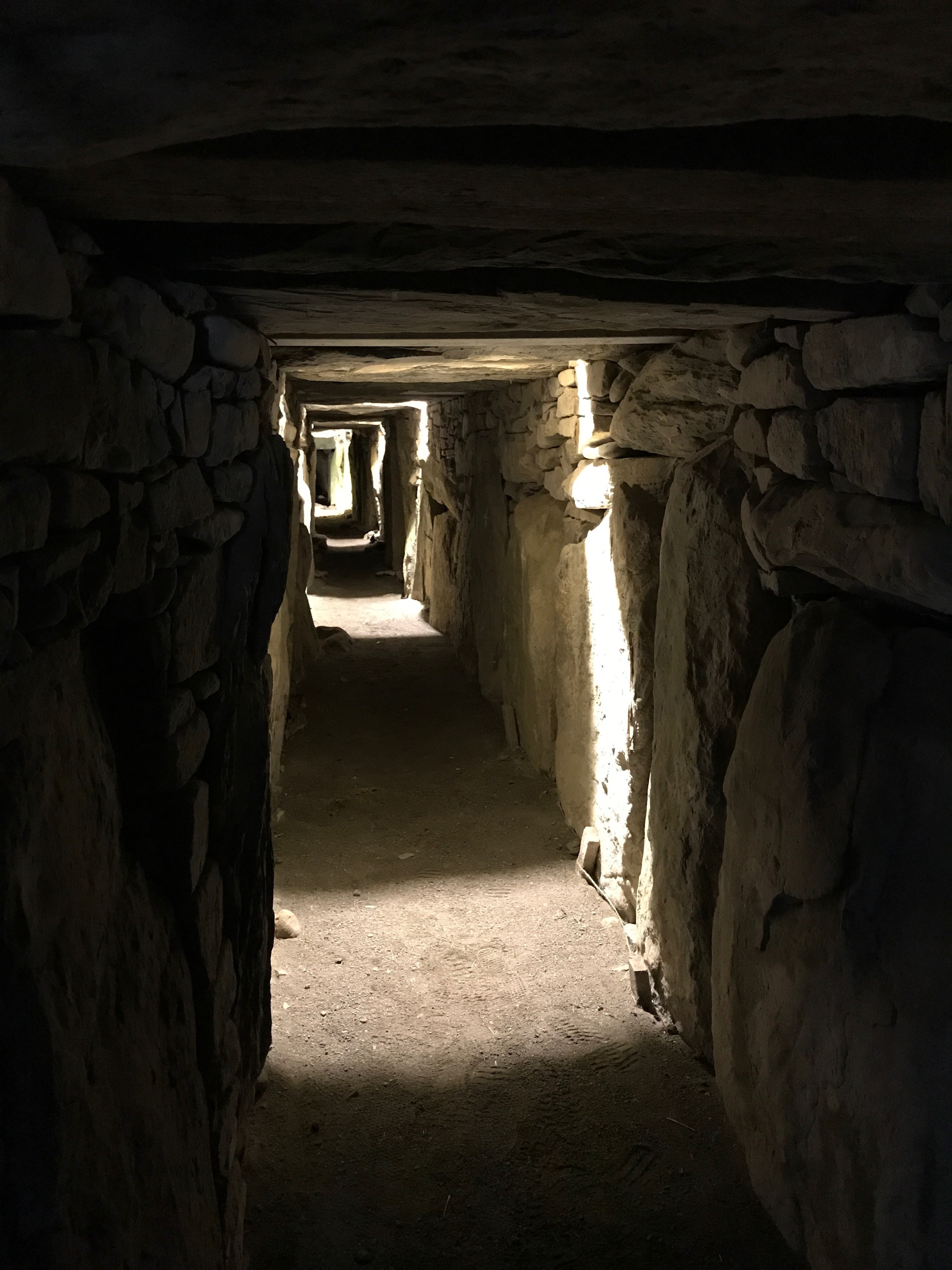 The eastern passage inside Knowth.