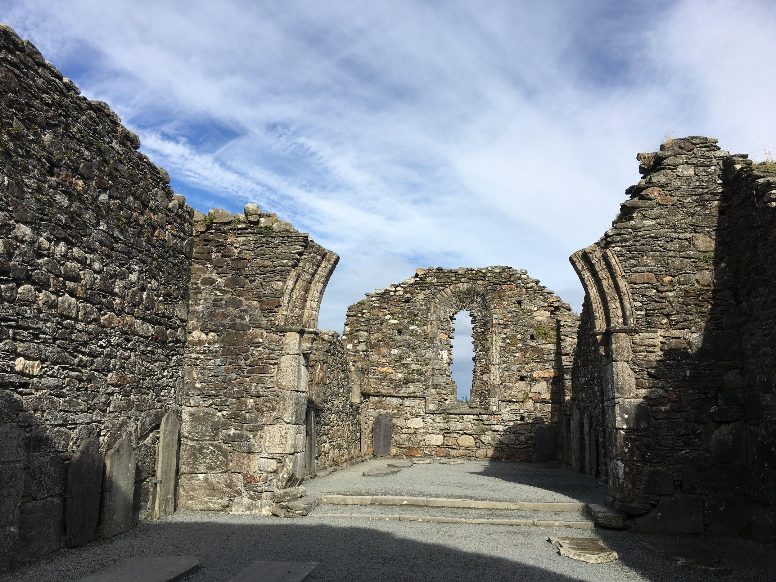 The ruins at Glendalough