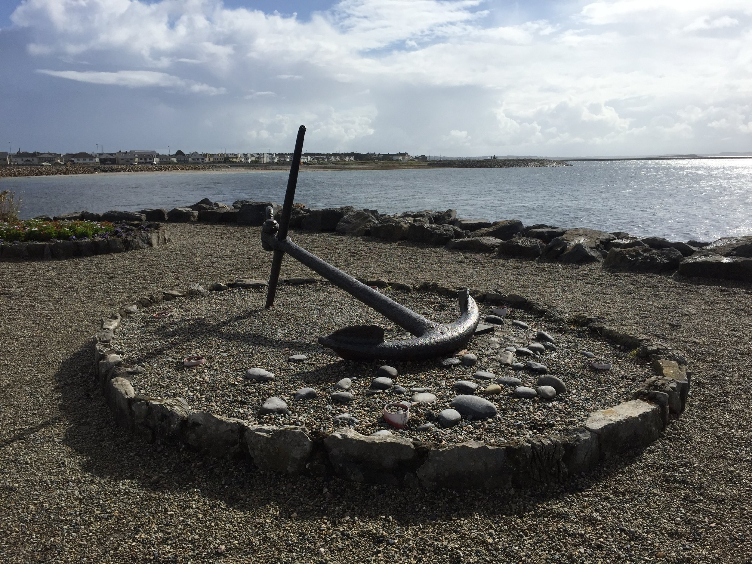 Anchor along Salthill Promenade.