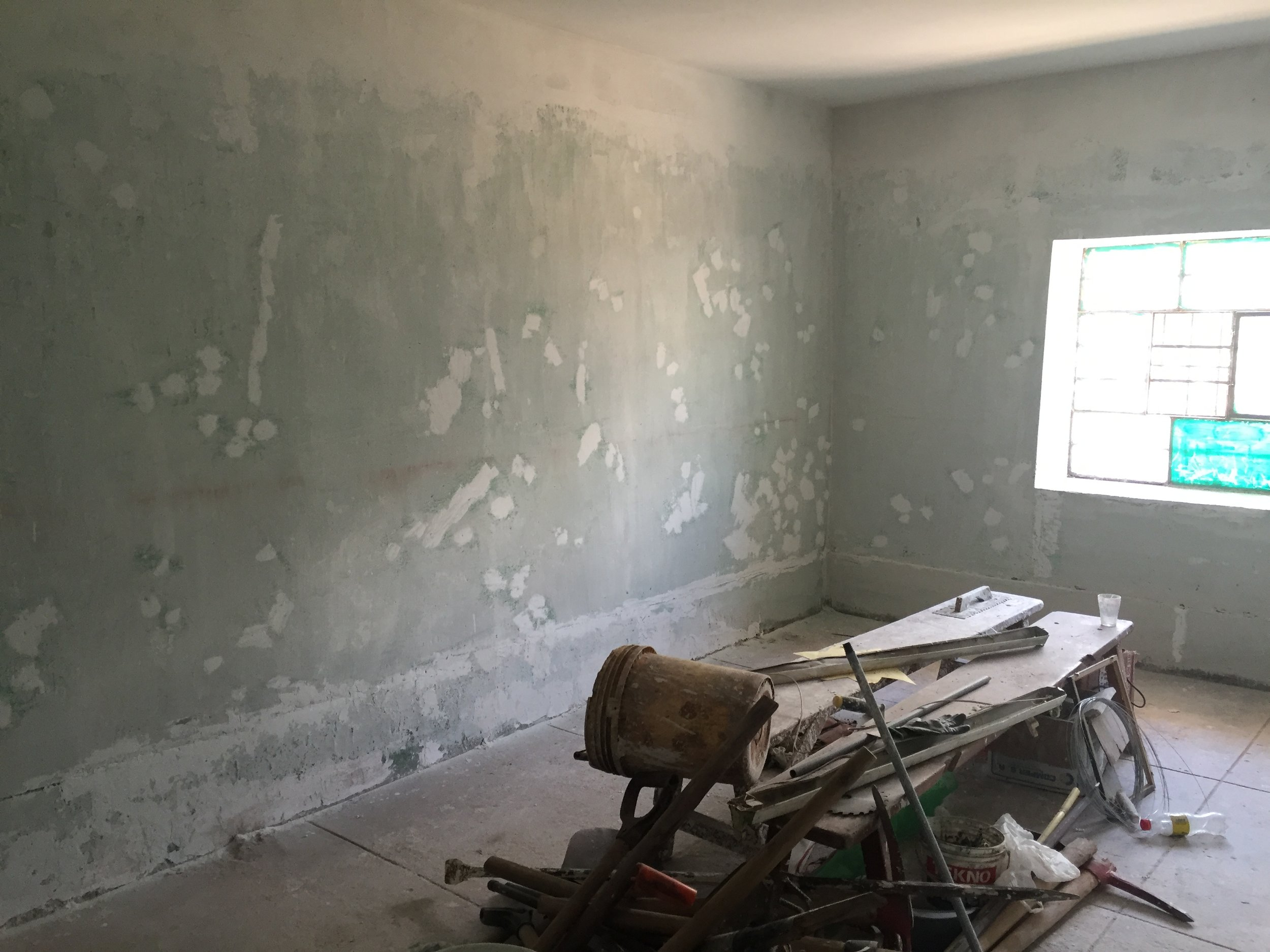 Repaired walls