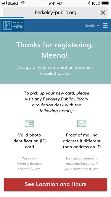 Form > Confirmation