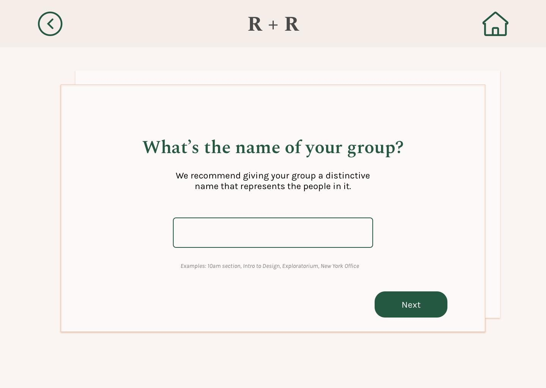 Add Group / Name