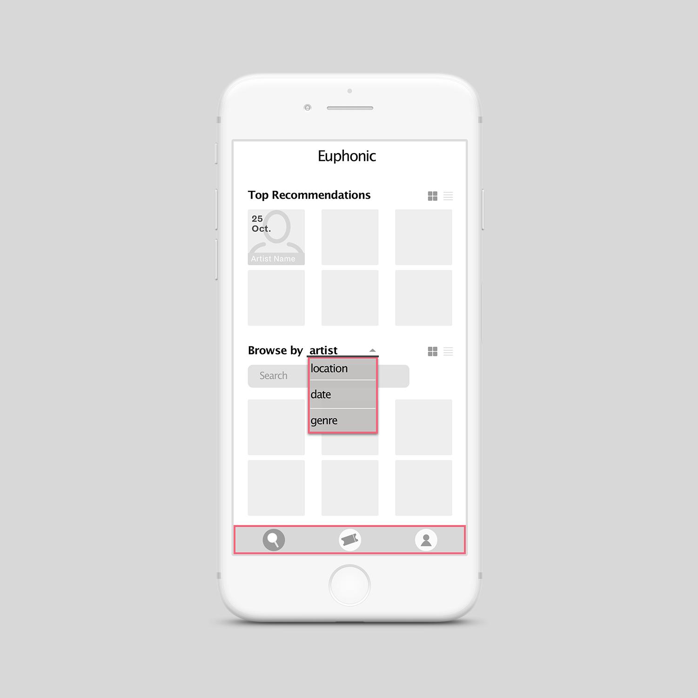 User Dashboard: Navigation